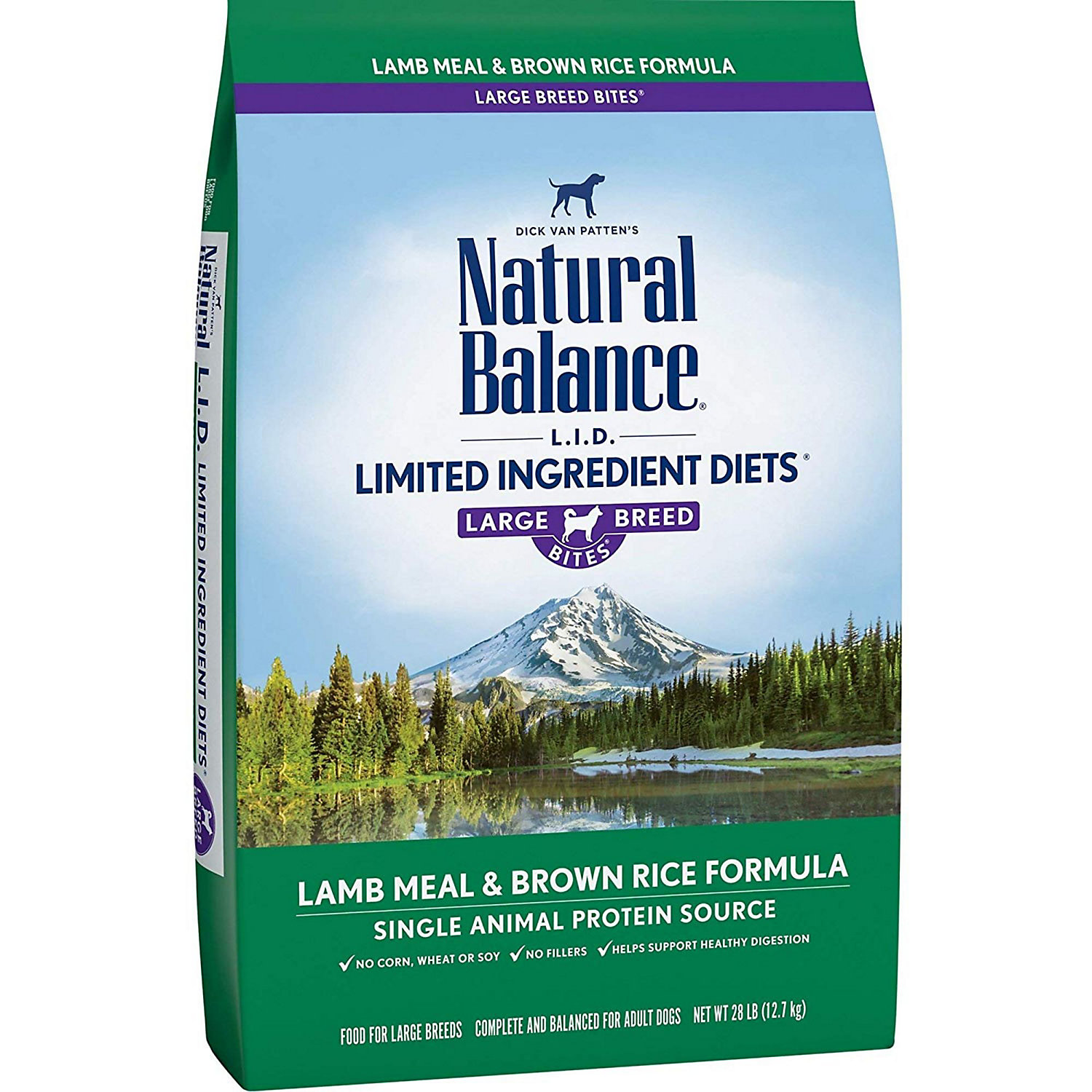 Natural Balance L.I.D. Limited Ingredient Diets Lamb Meal  Brown Rice Formula Large Breed Dog Food 28 lbs.