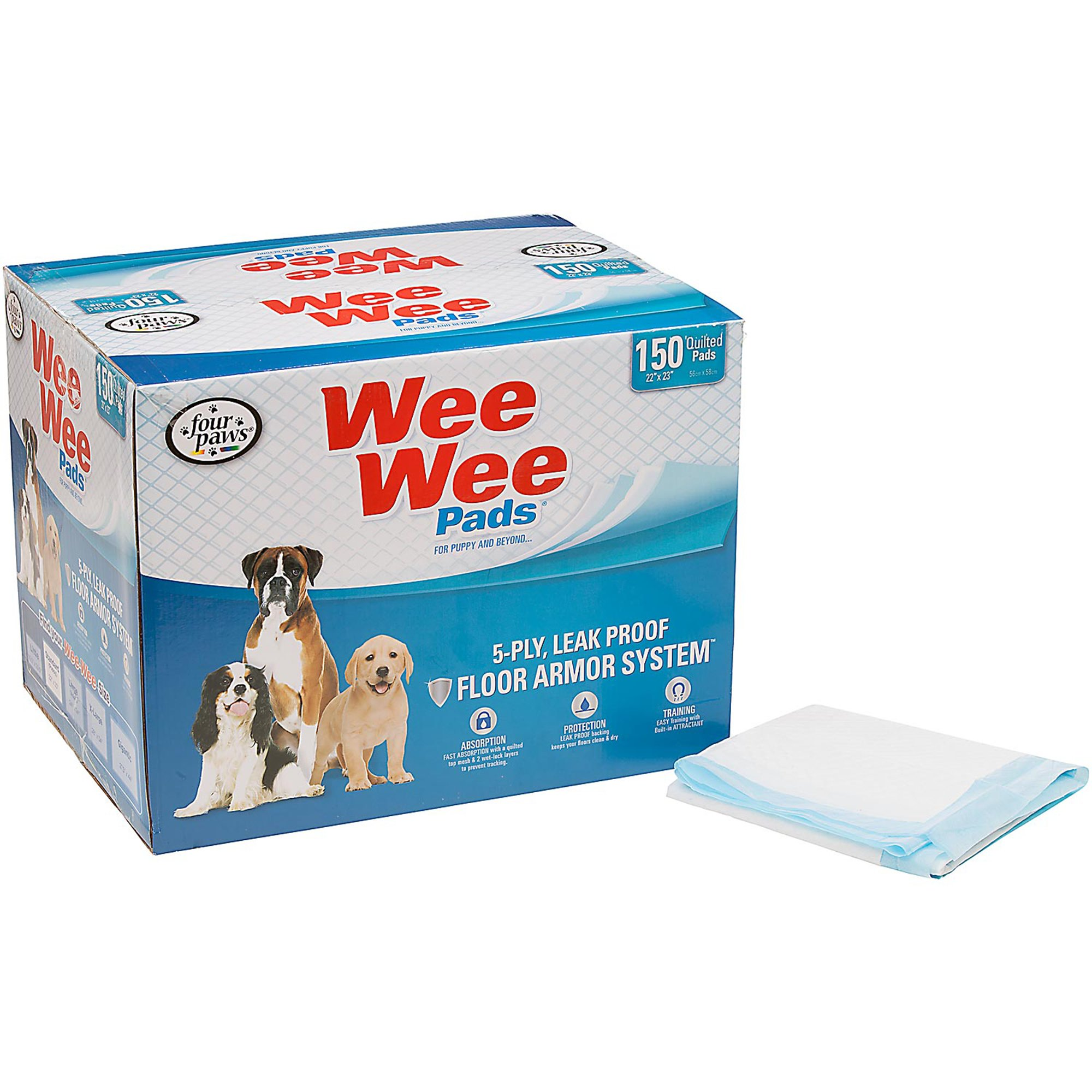 WeeWee Puppy Pads 150 count. 150 CT