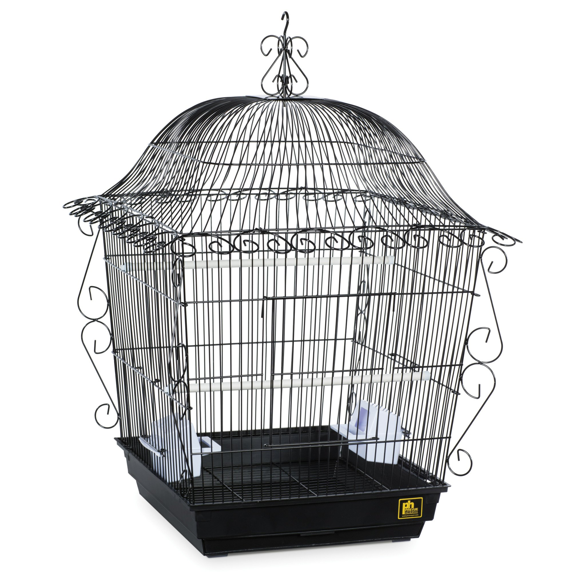 Prevue Pet Products Designer Scrollwork Series Jumbo Tiel Scrollwork Bird Cage in Black