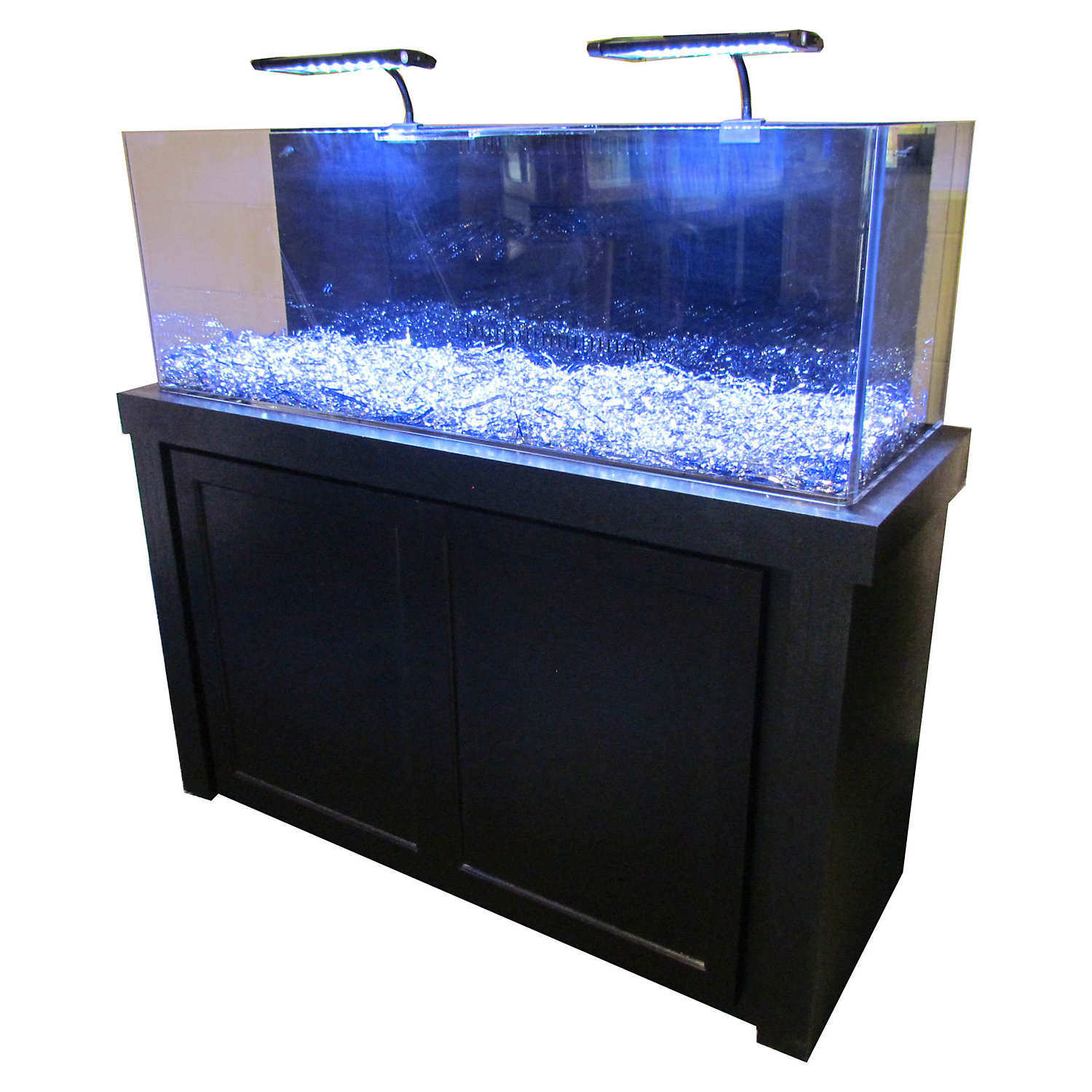RJ Enterprises 50 Gallon Black Fusion Series Cabinet  Tank Combo 119 LB