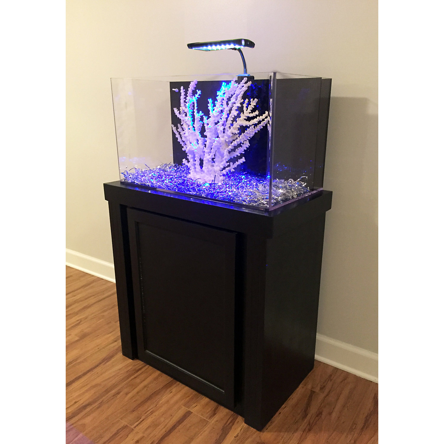 29 Gallon Black Fusion Series Cabinet  Tank Combo