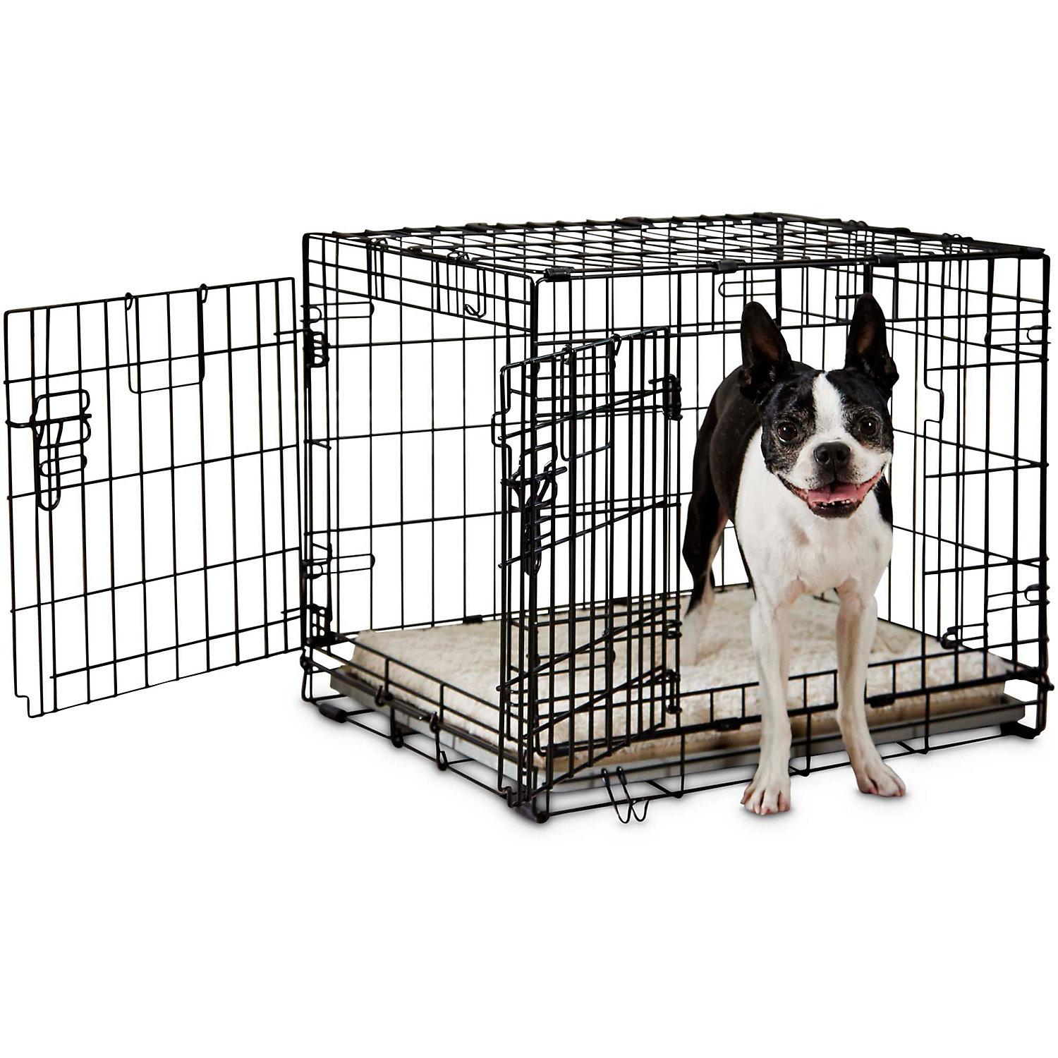 You  Me 2Door Folding Dog Crate 24 L x 17 W x 19 H Small