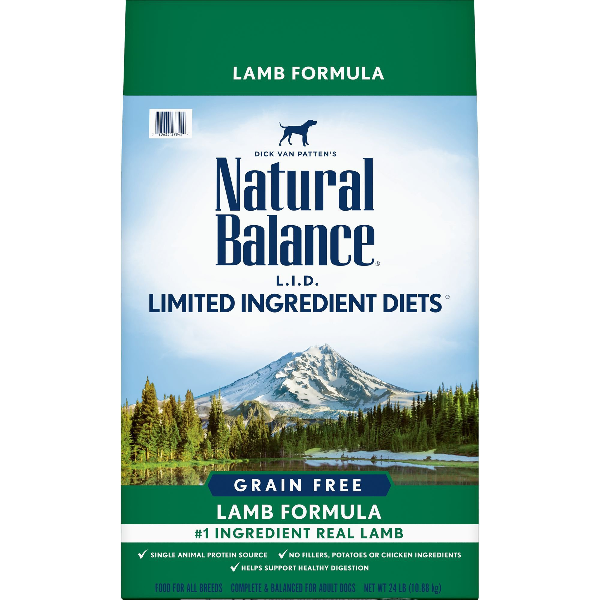 Natural Balance L.I.D. Limited Ingredient Diets Lamb Formula Dry Dog Food 24 lbs.