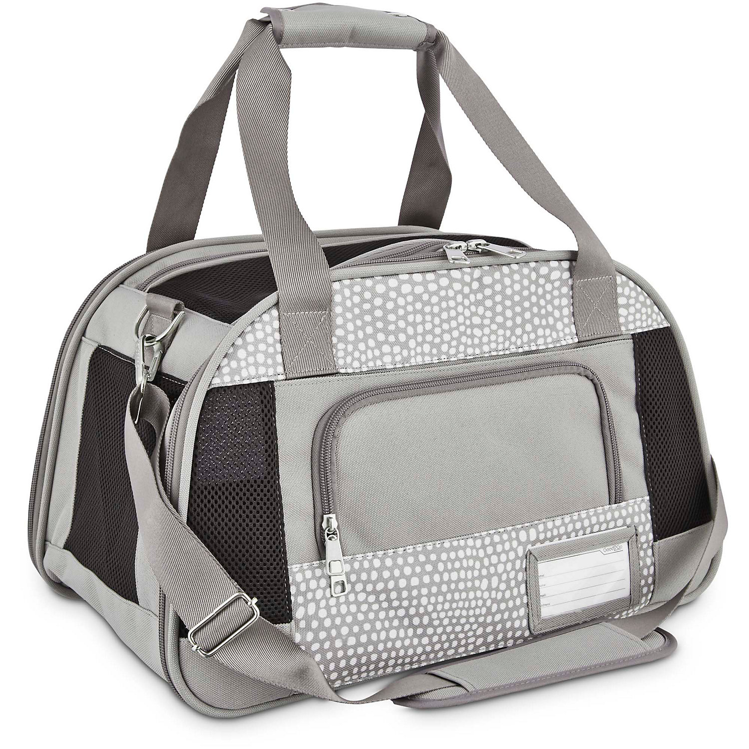 Good2Go Ultimate Pet Carrier in Gray Dots