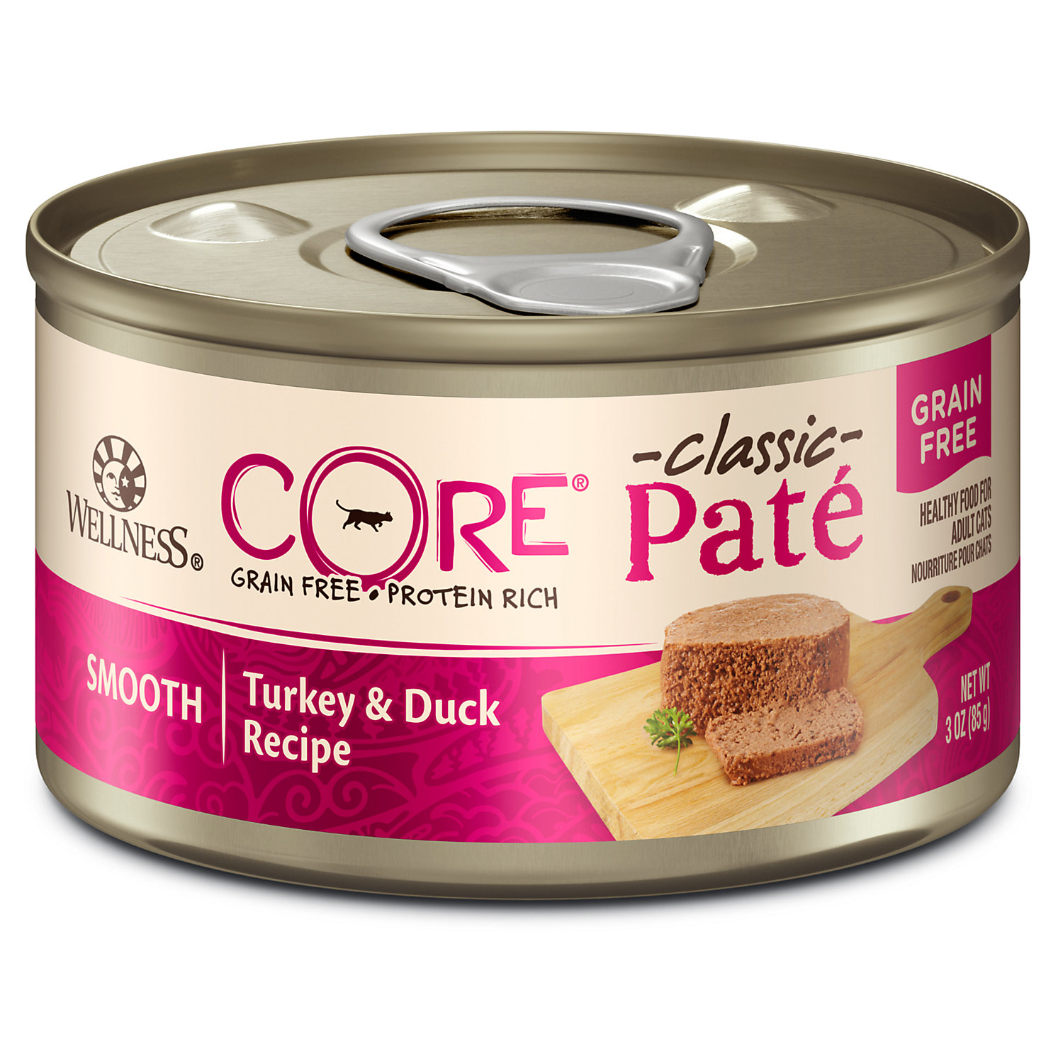 Wellness CORE Natural Grain Free Turkey  Duck Pate Wet Cat Food