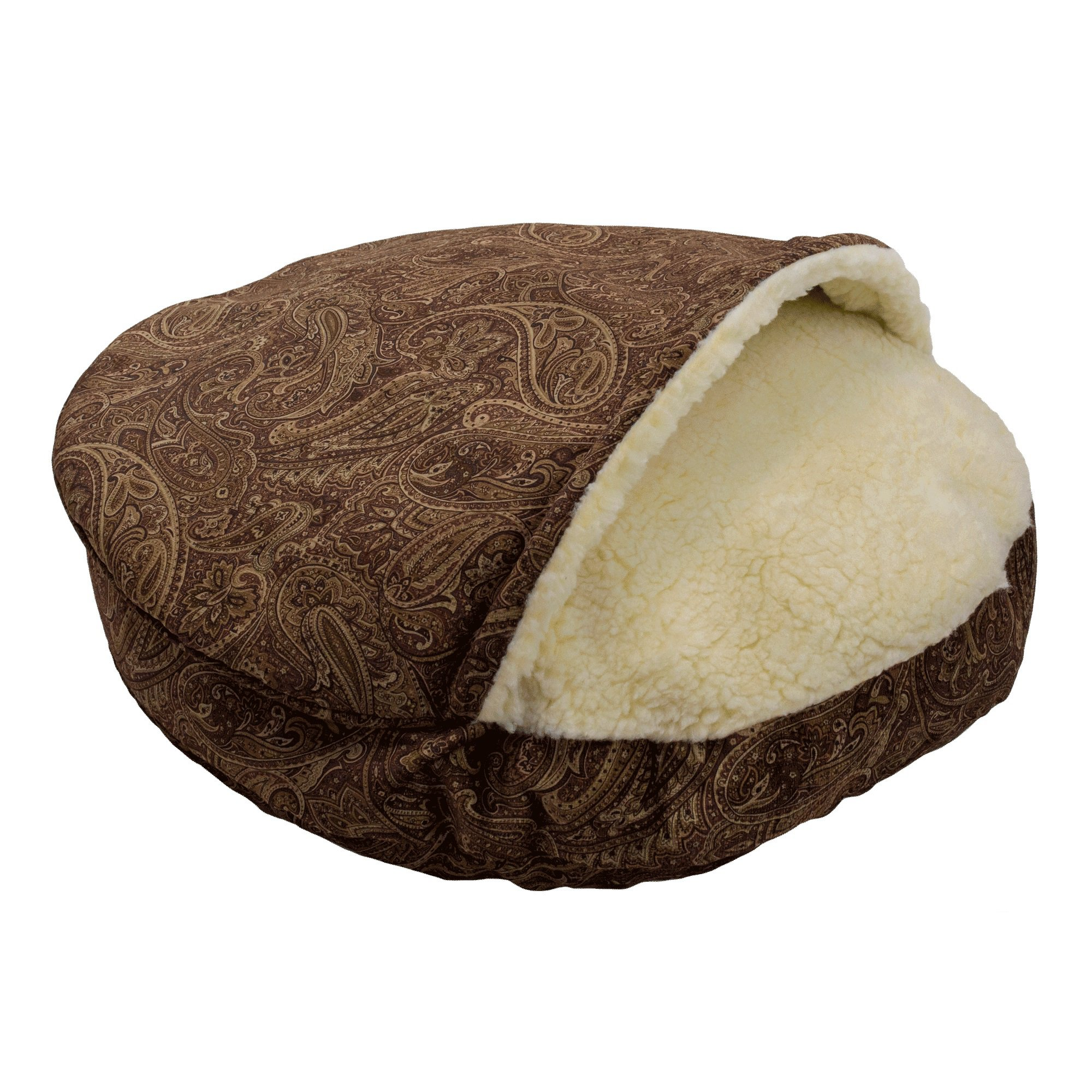 Snoozer Premium Micro Suede Cozy Cave Pet Bed in Red 25 L x 25 W Small