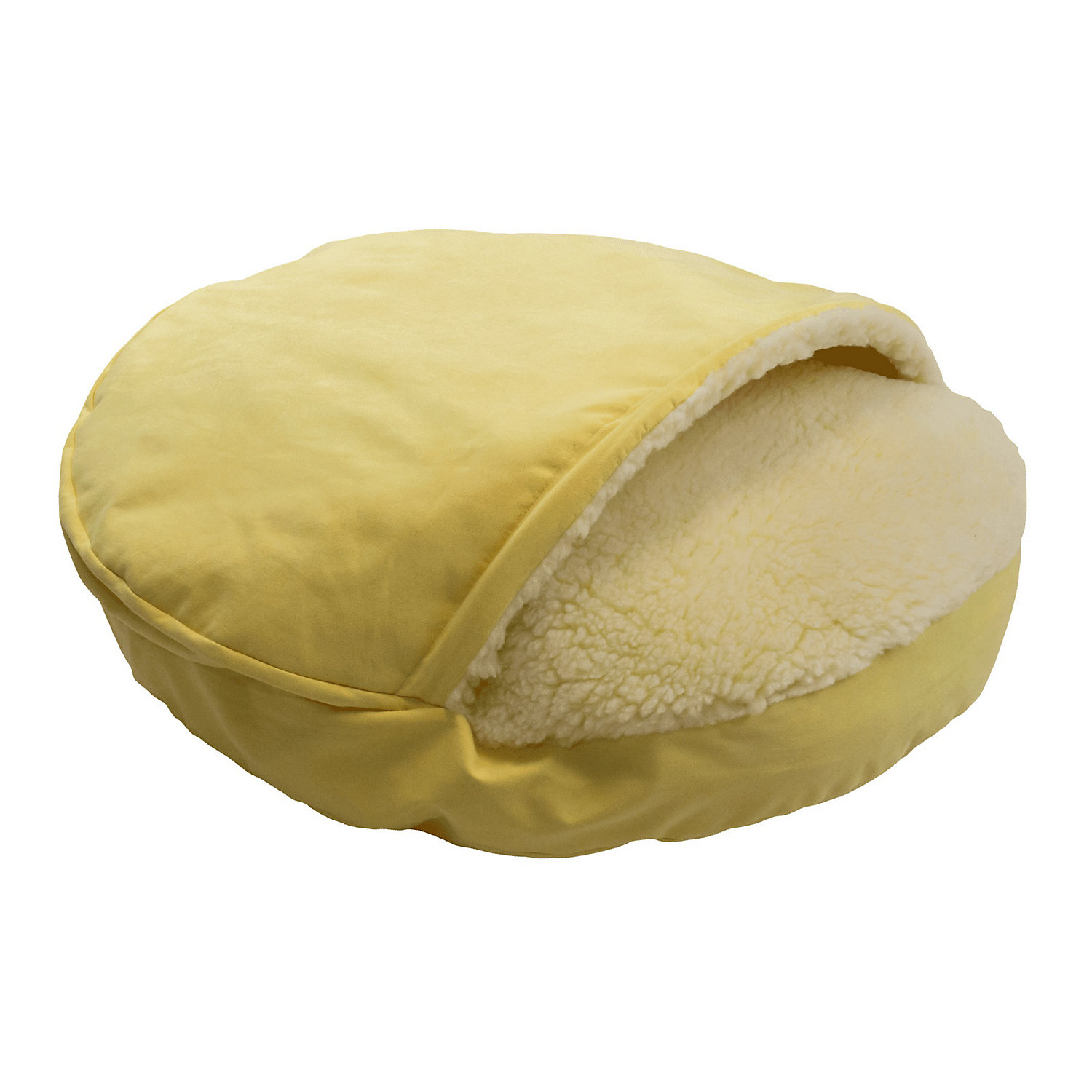 Snoozer Orthopedic Luxury Cozy Cave Pet Bed in Lemon 25 L x 25 W Small