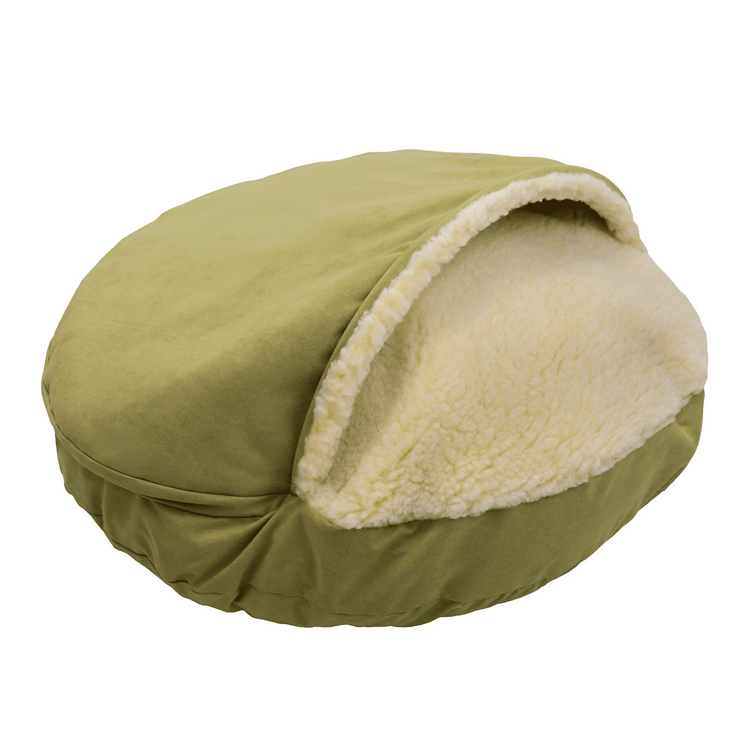 Snoozer Orthopedic Luxury Cozy Cave Pet Bed in Lime