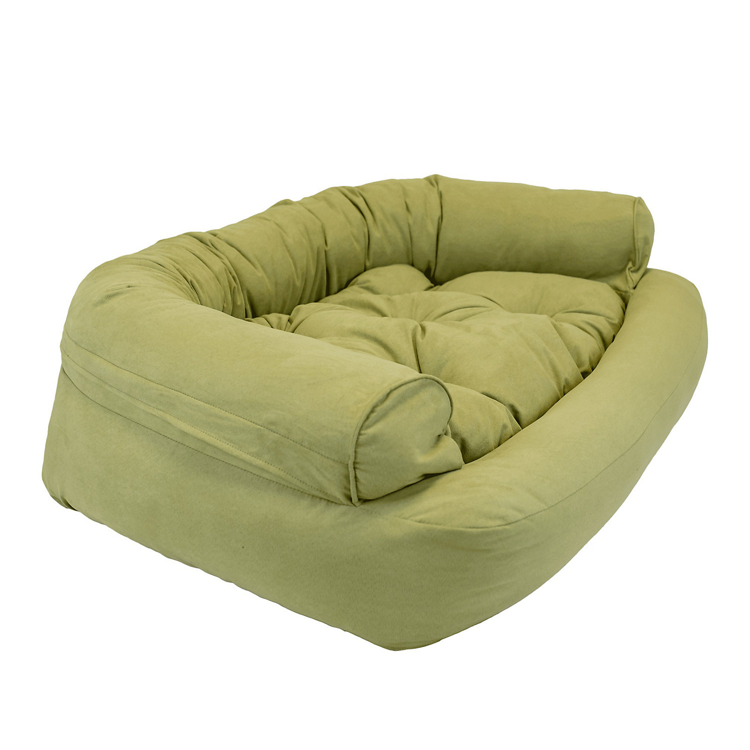 Snoozer Luxury Overstuffed Pet Sofa in Lime