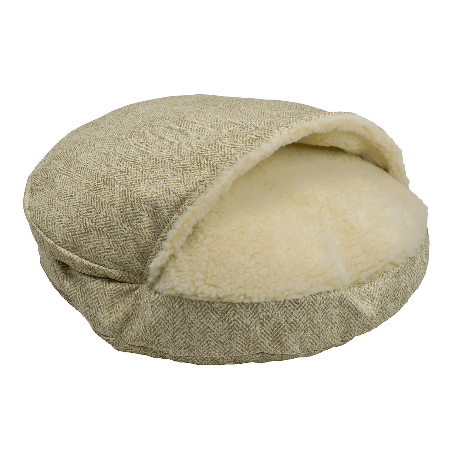 Snoozer Orthopedic Premium Micro Suede Cozy Cave Pet Bed in Palmer Citron 25 L x 25 W Small