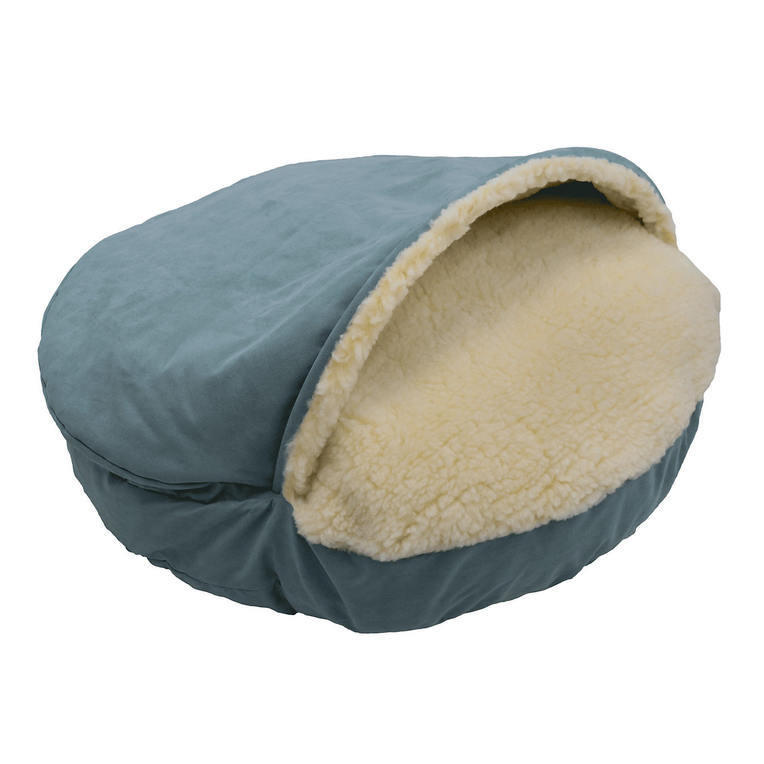 Snoozer Luxury Micro Suede Cozy Cave Pet Bed in Aqua 25 L x 25 W Small