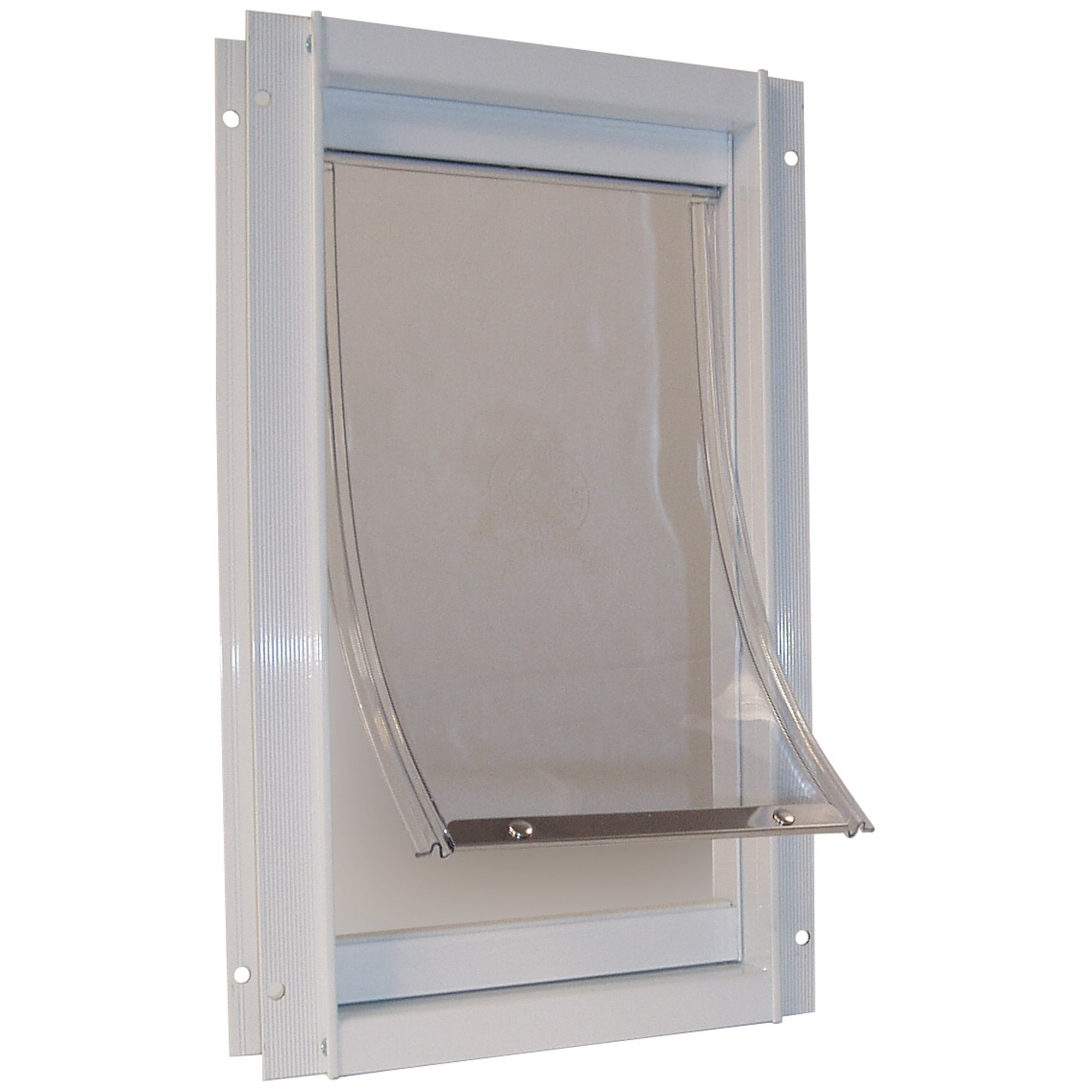 Perfect Pet Deluxe Aluminum Pet Door in White 12.8125IN x 2.125IN x 18.75IN XLarge