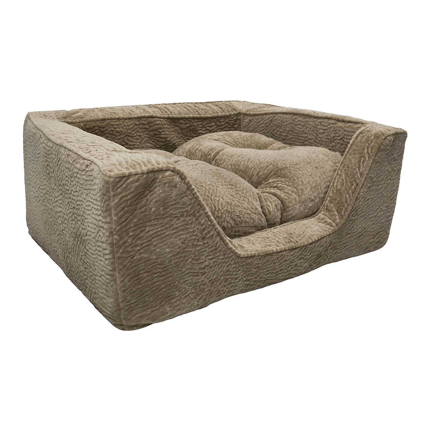 Snoozer Premium Micro Suede Square Piston Sand Dog Bed 23 L X 19 W Medium