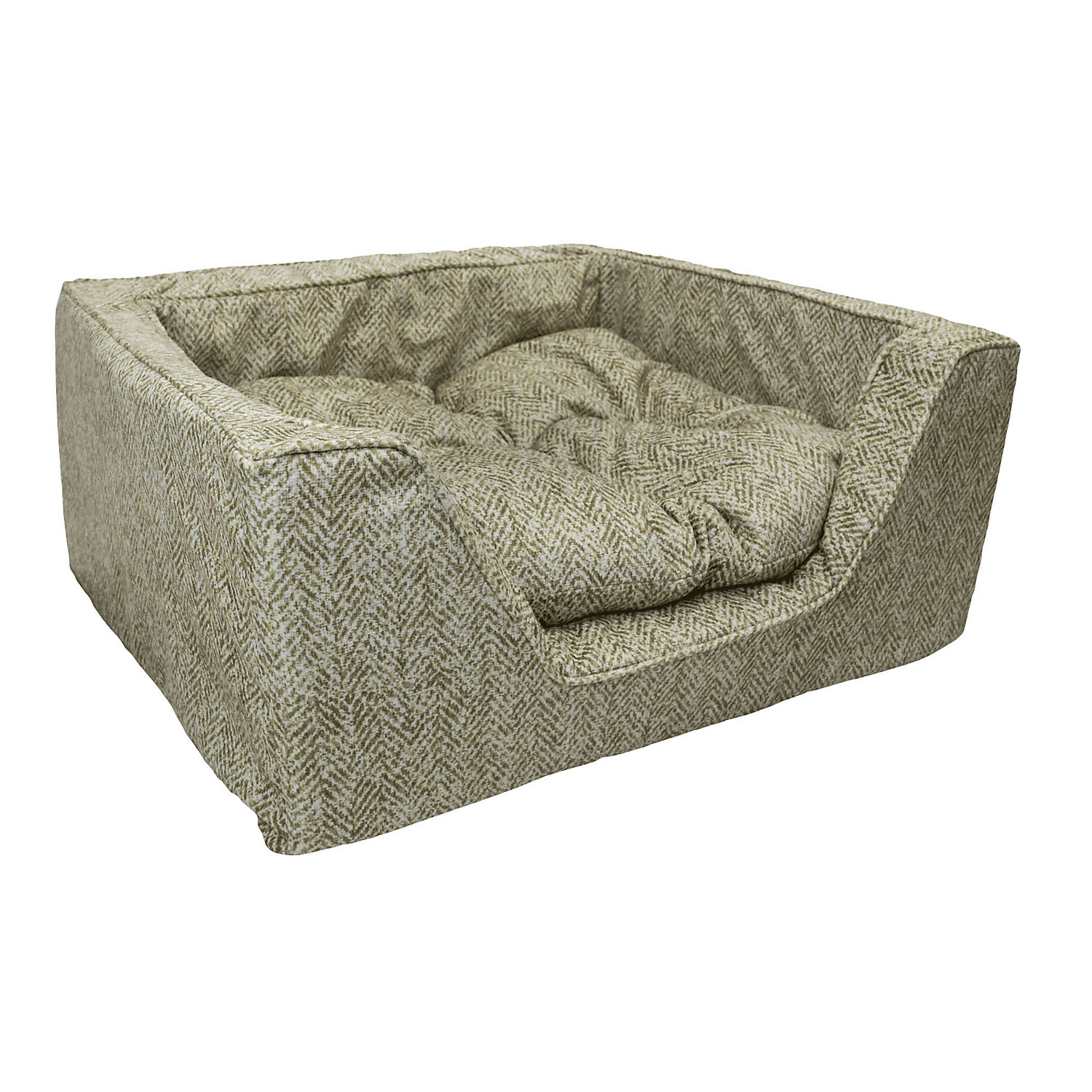 Snoozer Premium Micro Suede Square Palmer Citron Dog Bed 27 L X 23 W Large