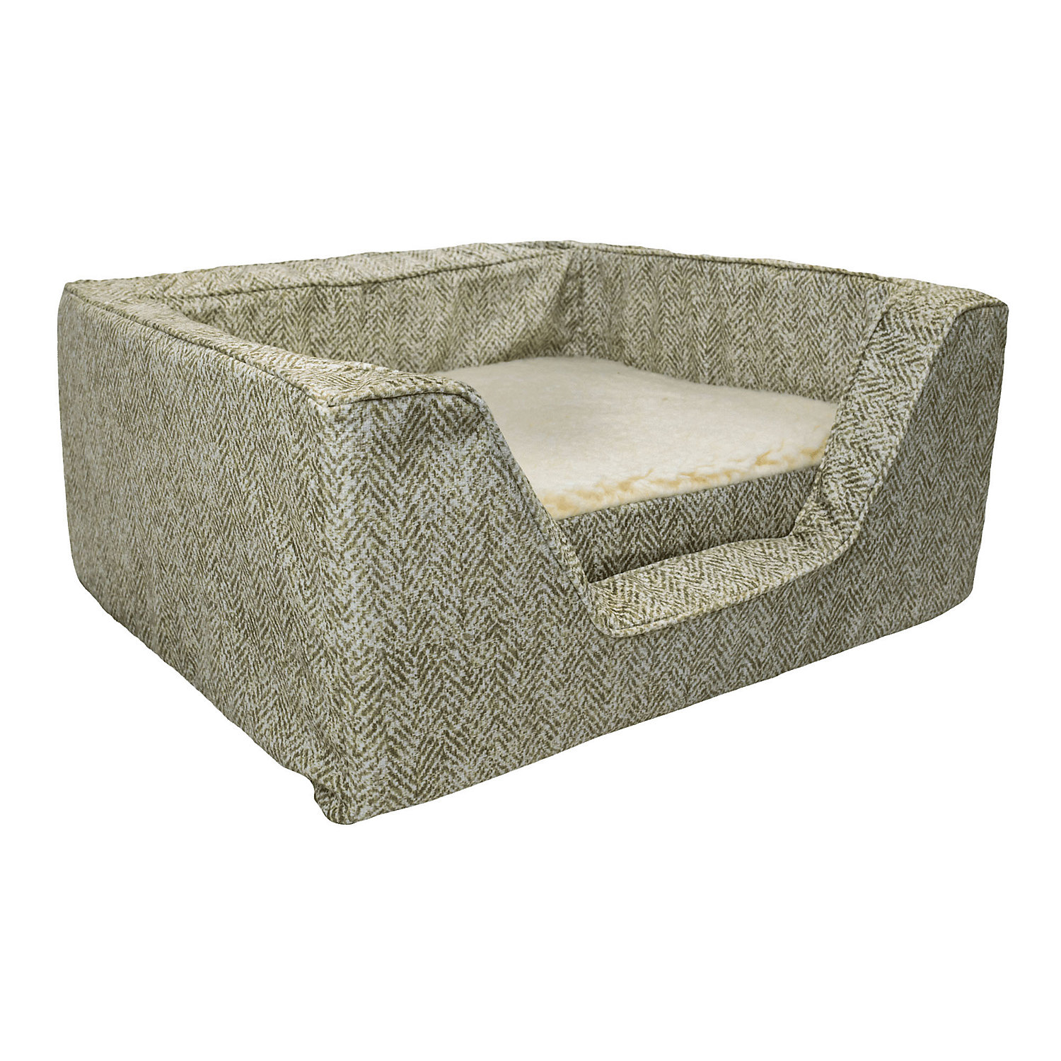Snoozer Premium Micro Suede Square Palmer Citron With Memory Foam Dog Bed 23 L X 19 W Small