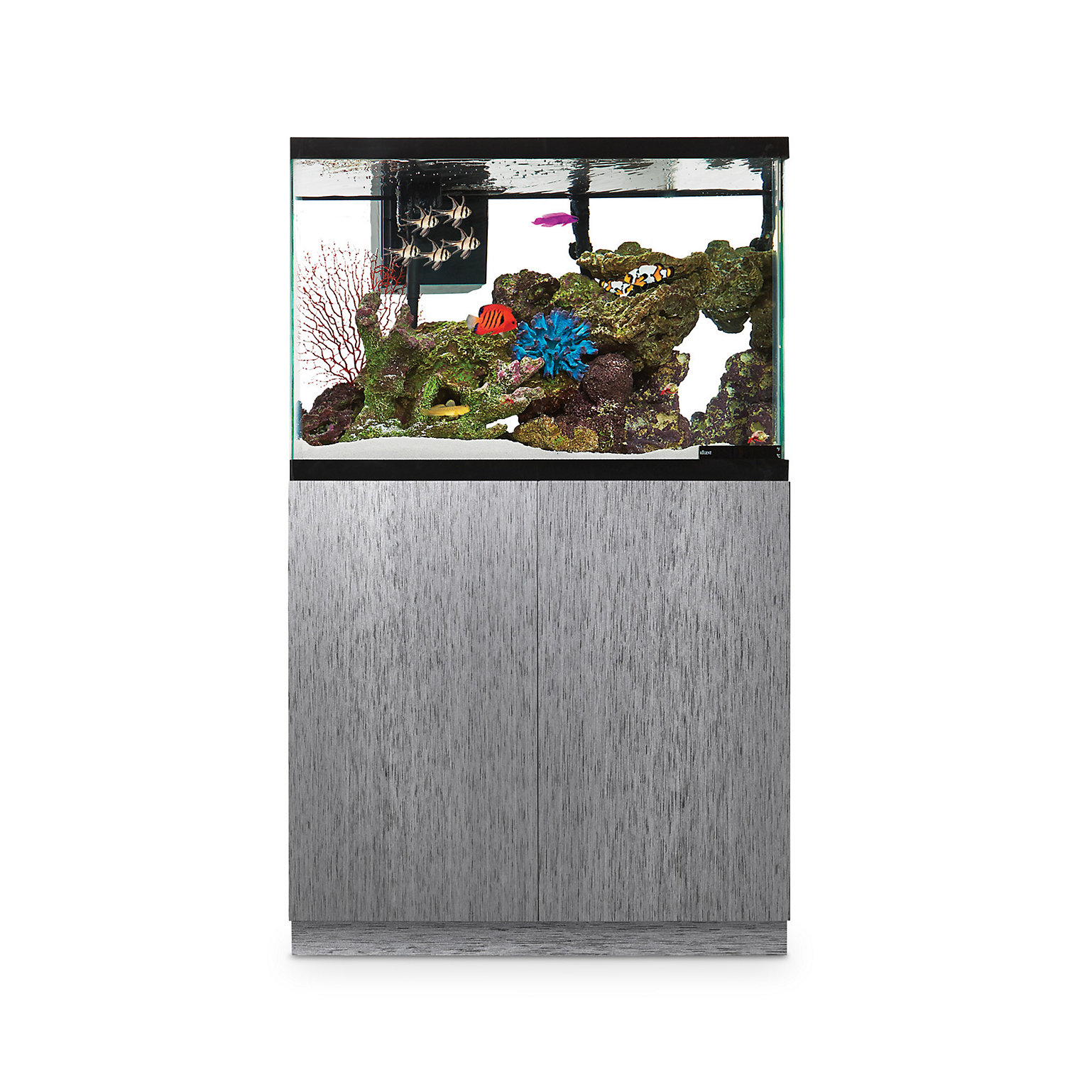 Imagitarium Brushed Steel Look Fish Tank Stand Up to 40 Gal.