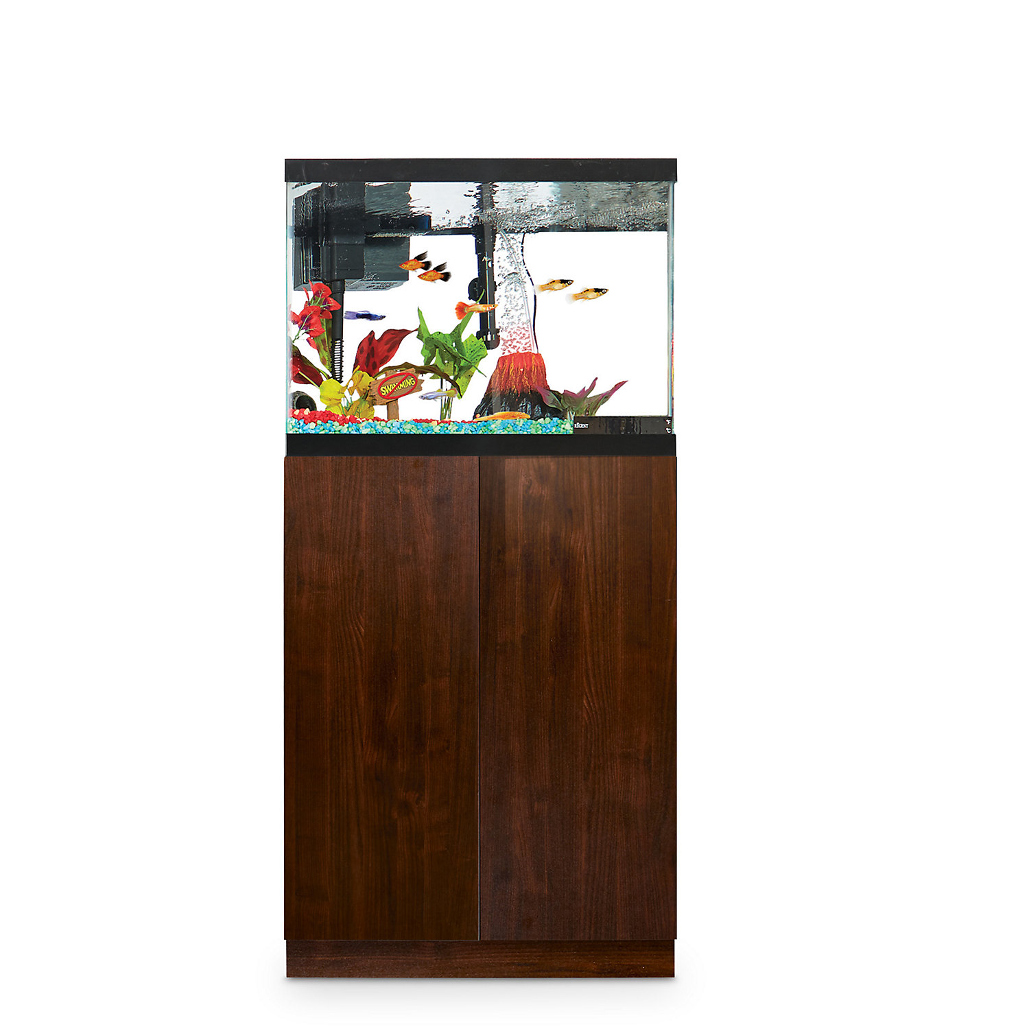 Imagitarium Faux Woodgrain Fish Tank Stand Up to 20 Gal.