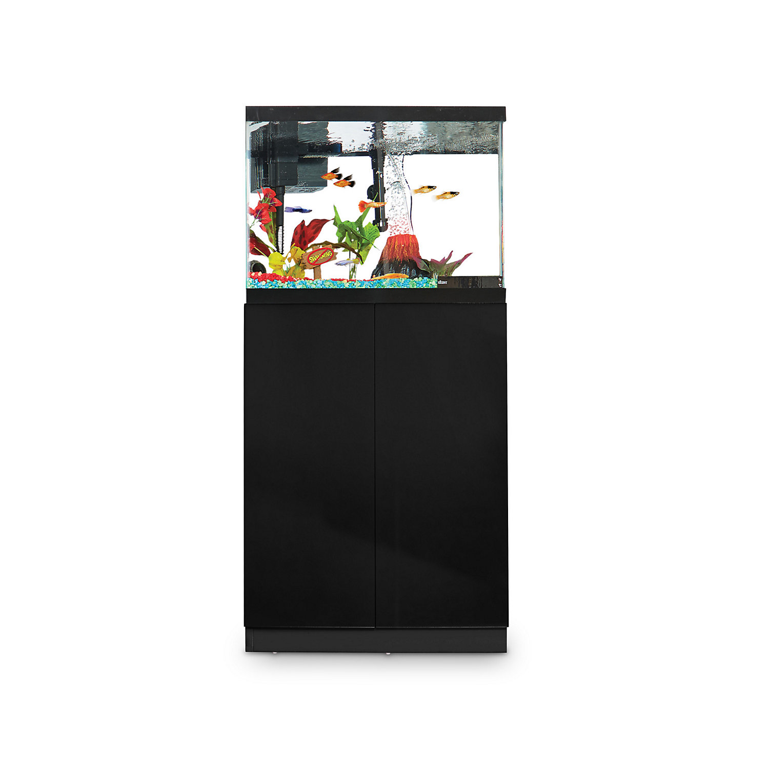 Imagitarium Black Gloss Fish Tank Stand Up to 20 Gal.
