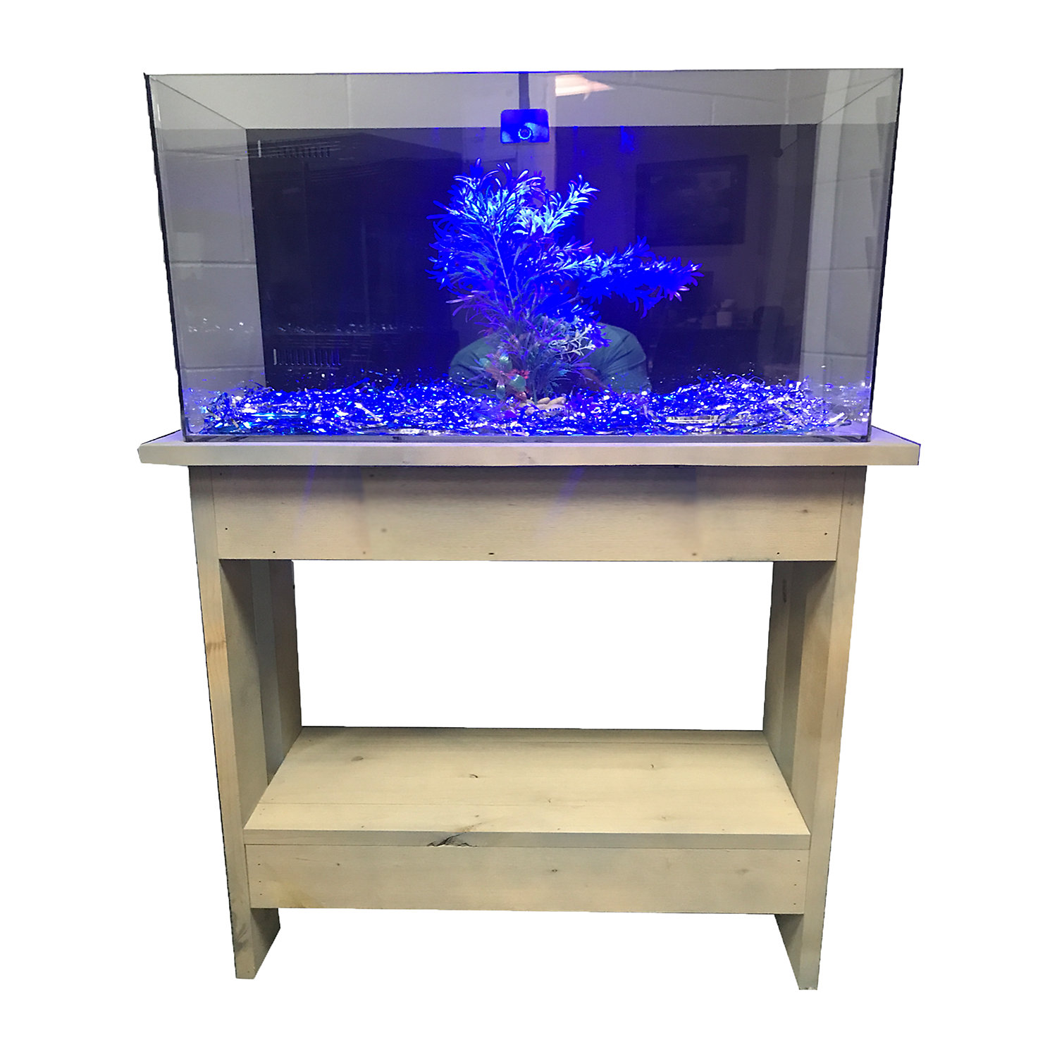 RJ Enterprises Rustic A 30 Tall Aquarium Cabinet  For 29 Gallon Tanks