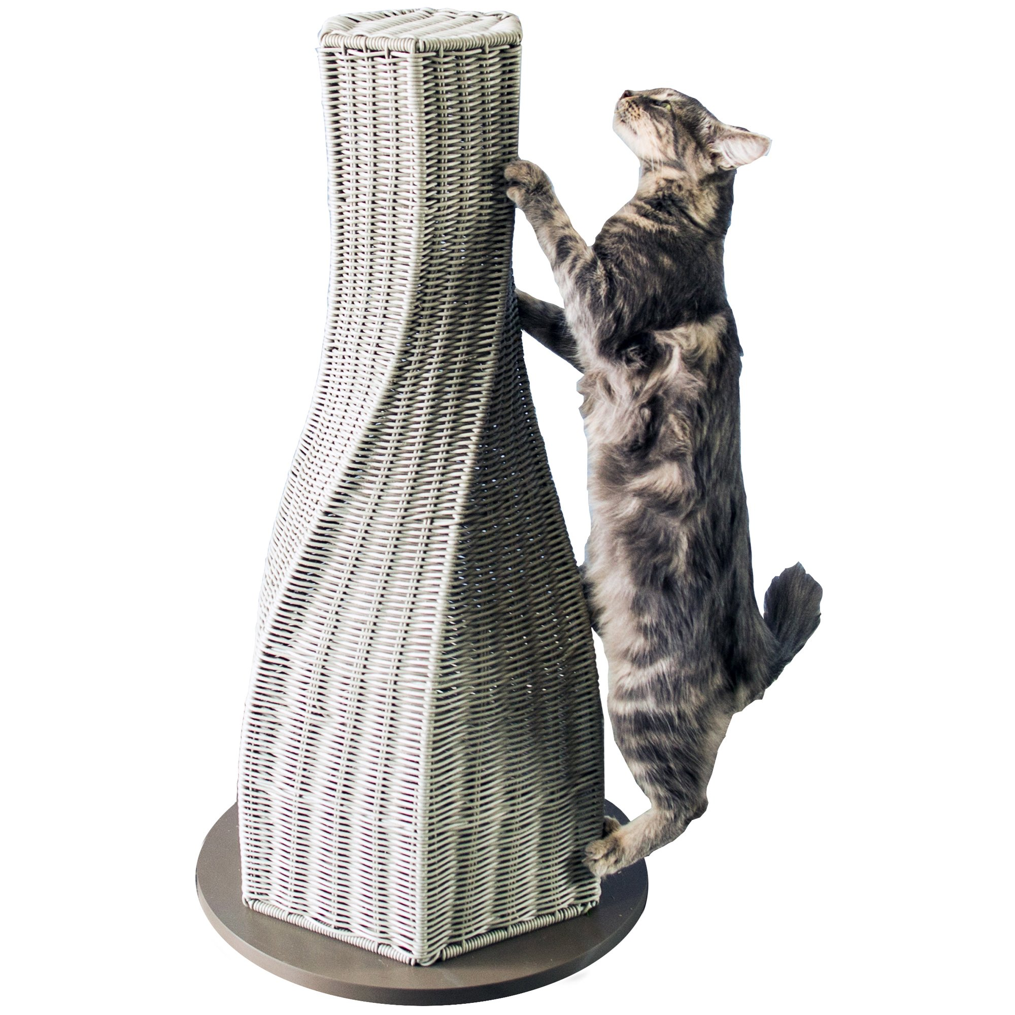 The Refined Feline Calypso Everlasting Cat Scratcher In Smoke 16 L X 16 W X 31 H Large Grey