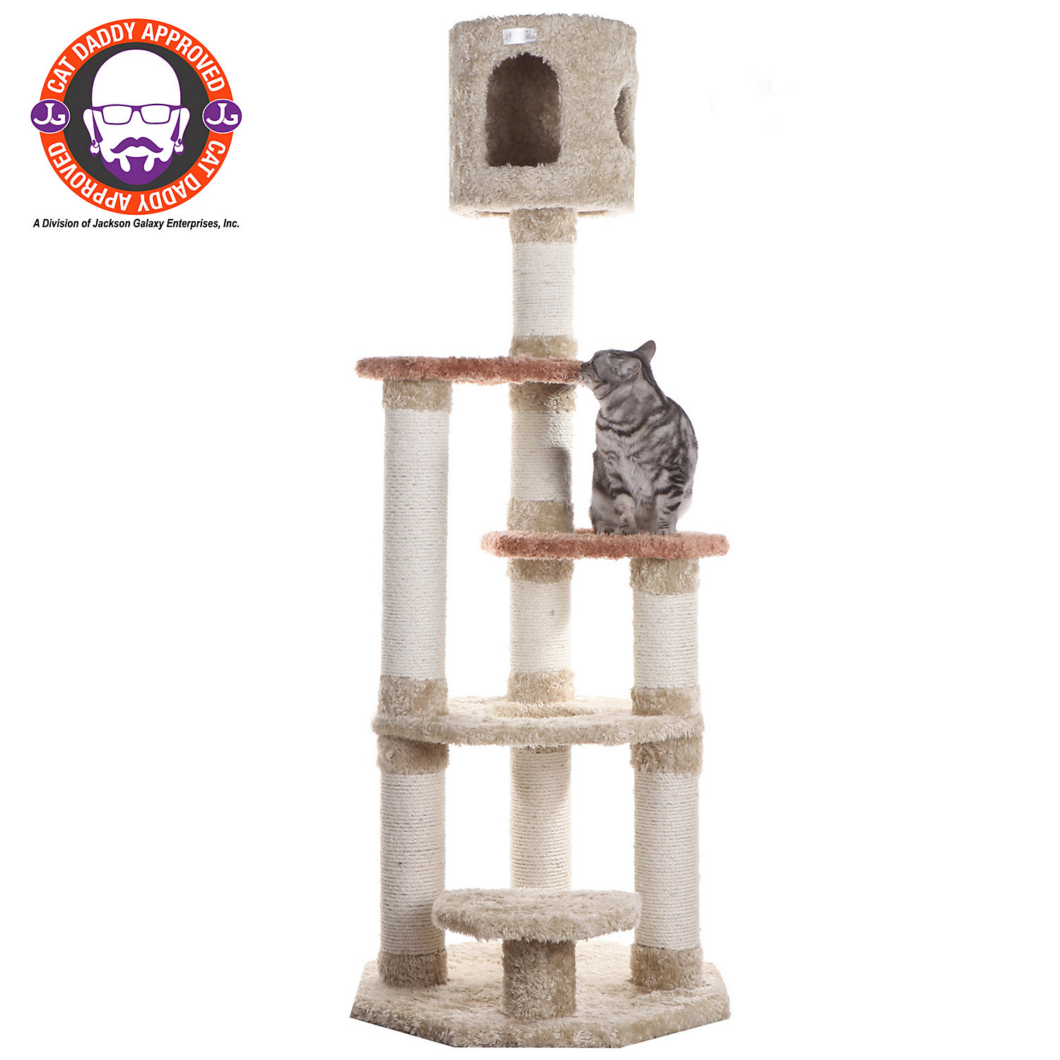 Armarkat Premium Cat Tree Model X6606 Khaki