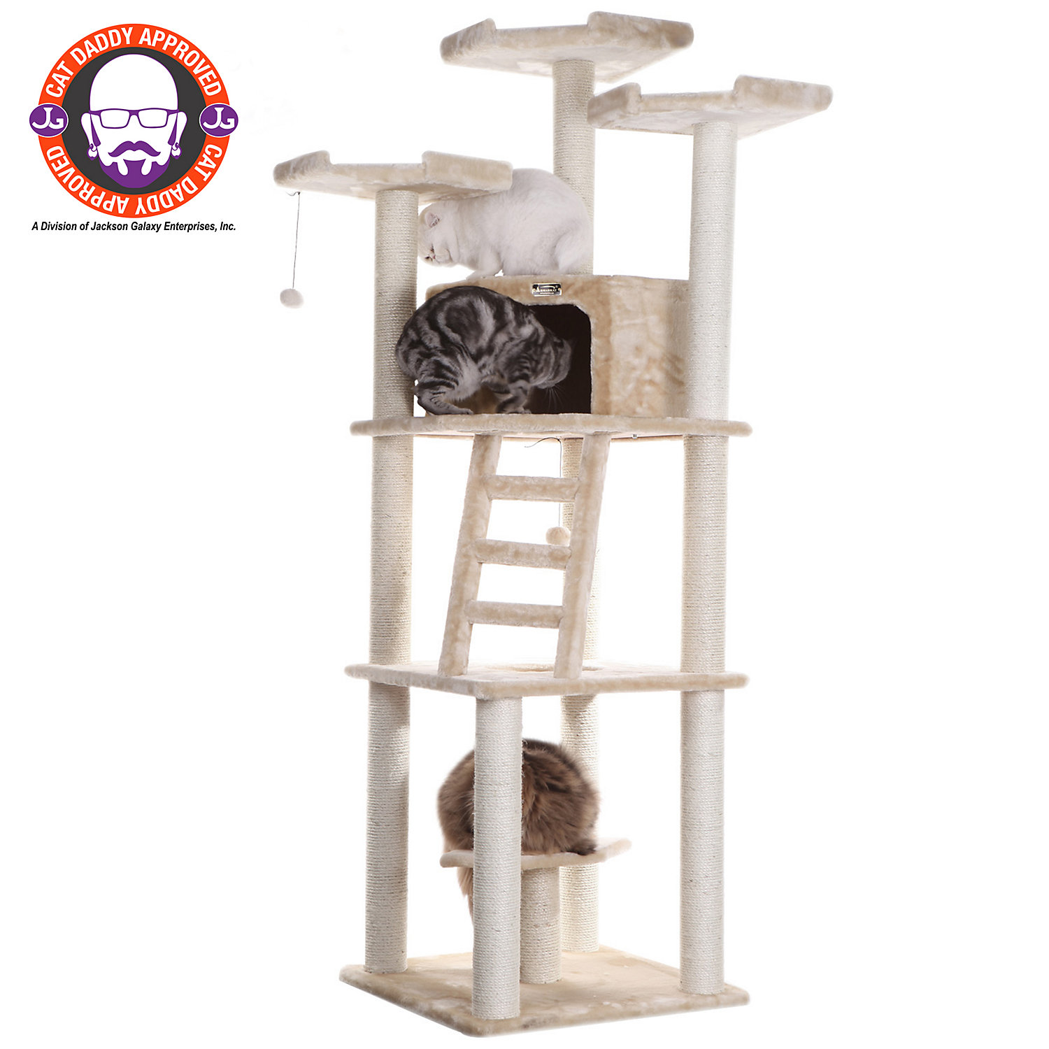 Armarkat Classic Cat Tree Model A8001 Beige 80 H Large OffWhite  OffWhite