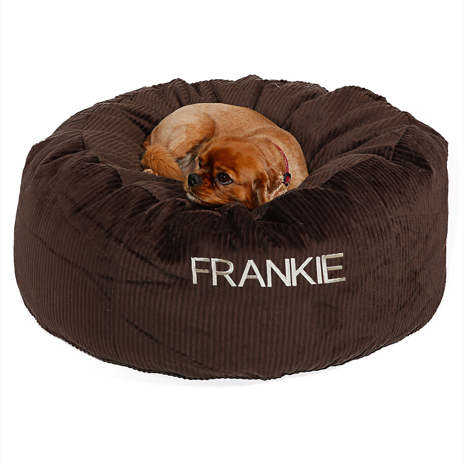 Doctors Foster  Smith Personalized Deluxe Warm  Cuddly Slumber Ball Chocolate Dog Beds