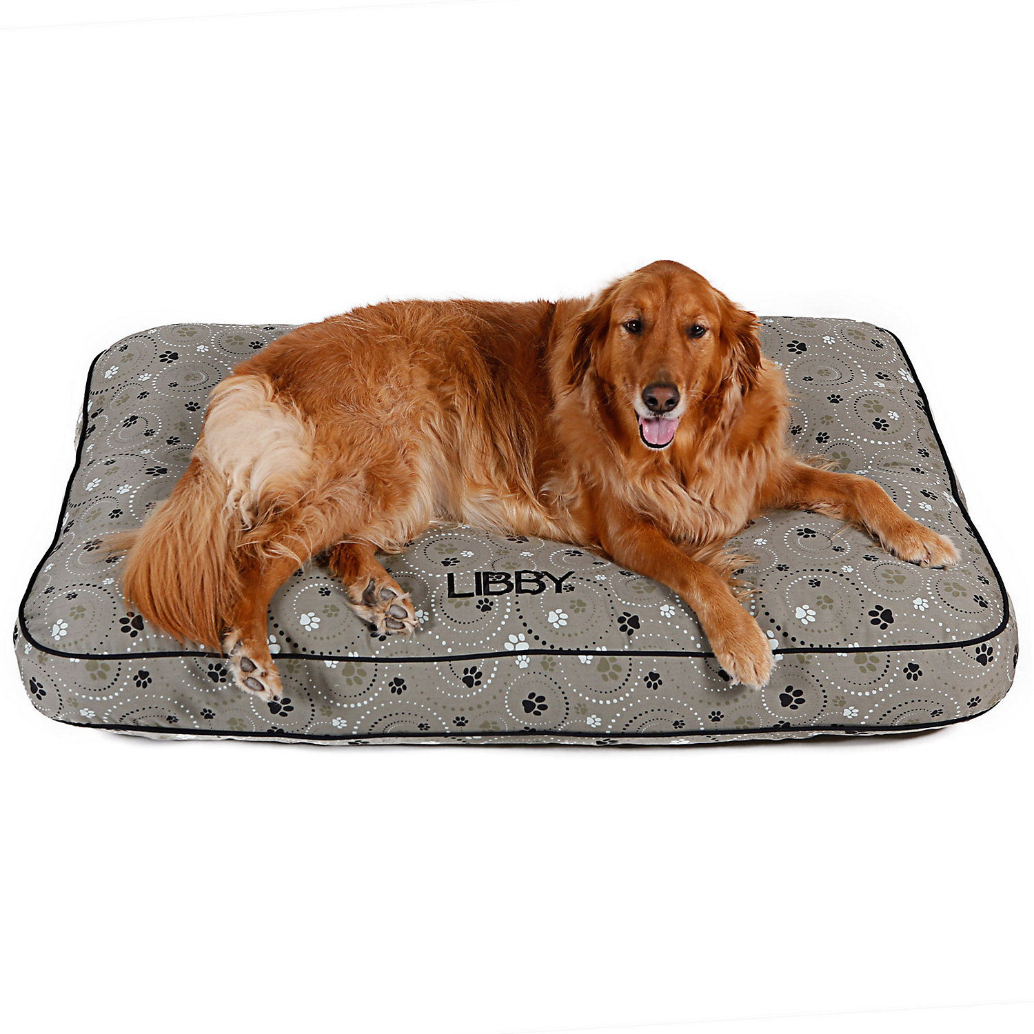 Doctors Foster  Smith Personalized Ultimate Classic Sage Galaxy Paw Dog Bed 42 L x 24 W Small