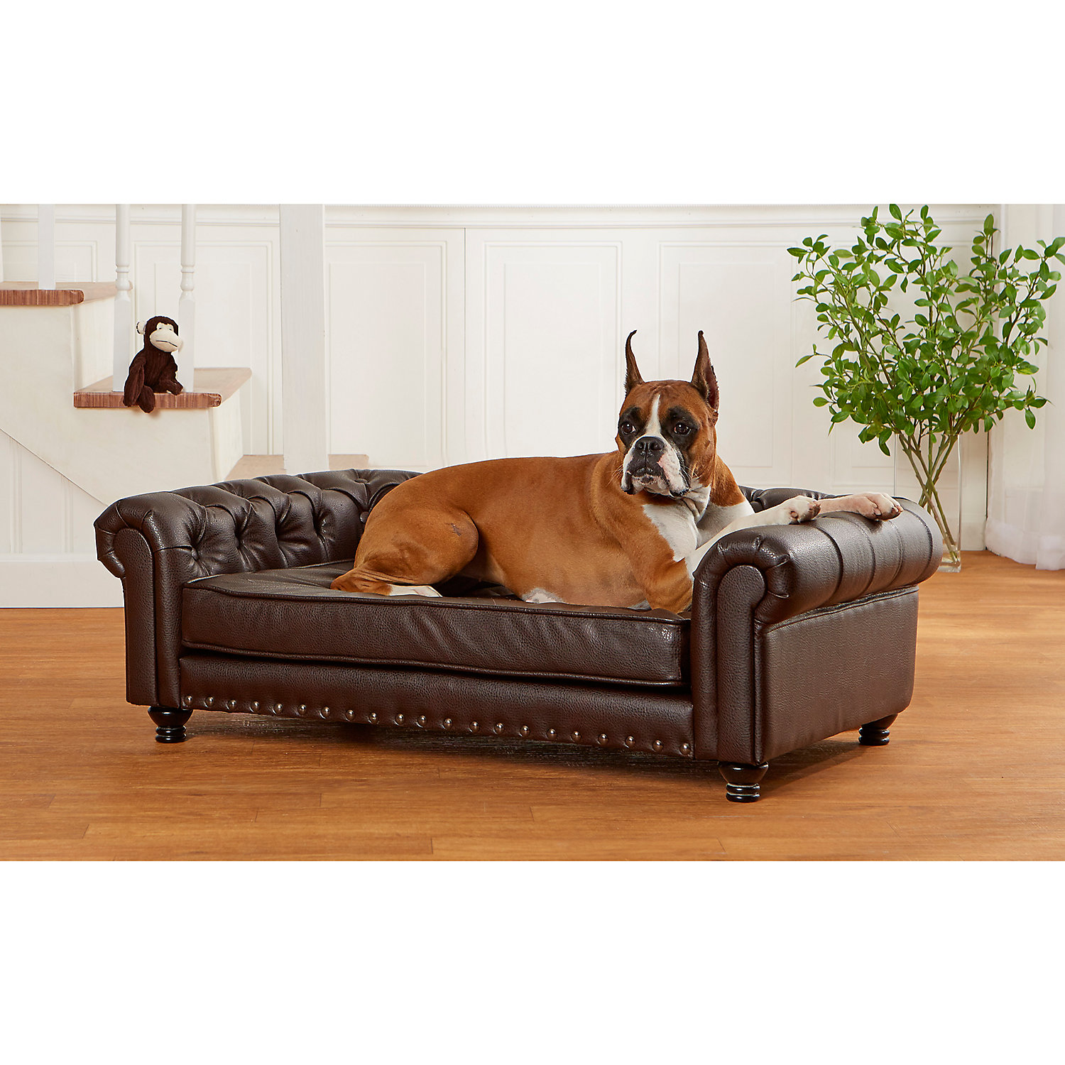Enchanted Home Pet Wentworth Pebble Brown Sofa for Dog