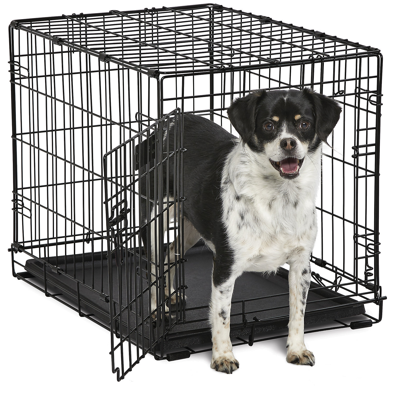 Midwest Contour Folding Dog Crate 25.25 L X 17.5 W X 19.5 H Small Black