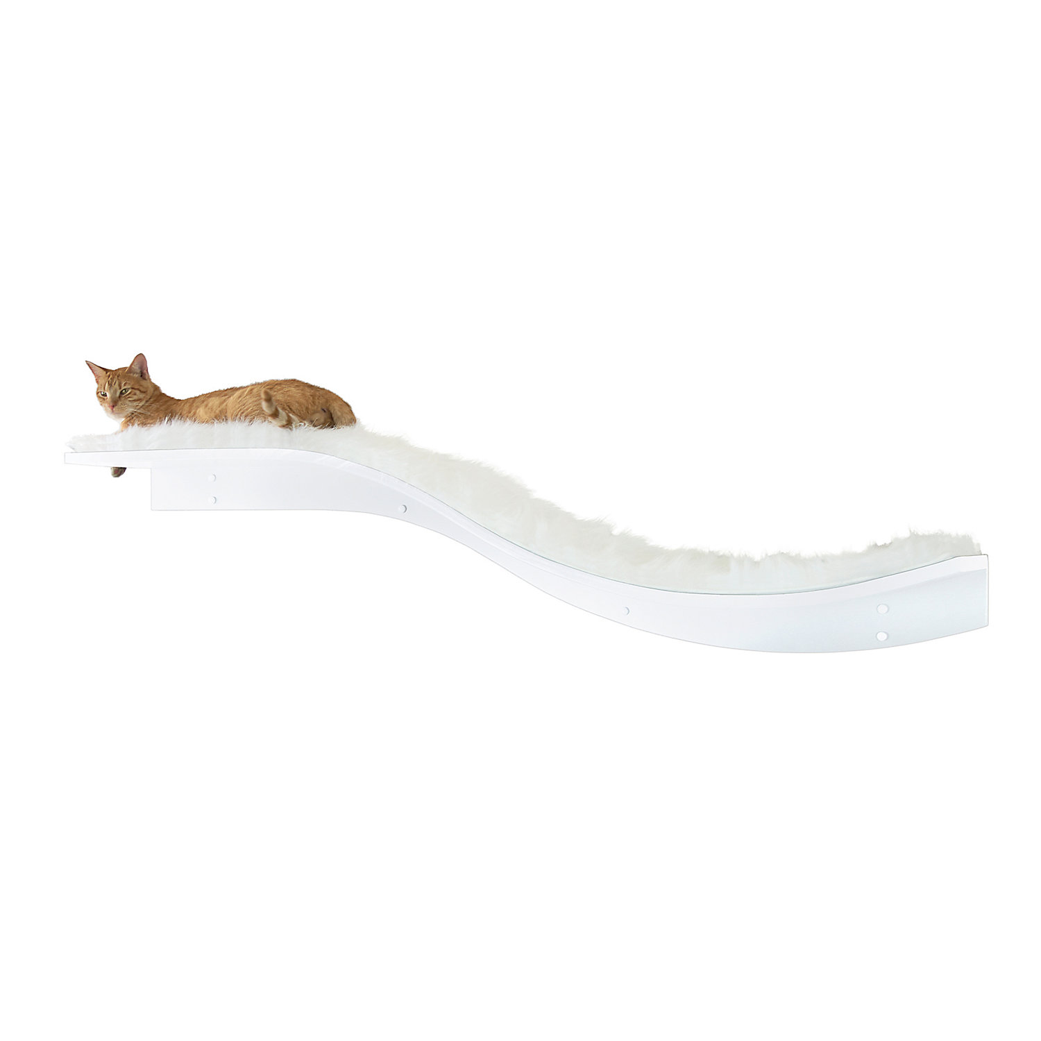 The Refined Feline Lotus Branch Cat Shelf in White