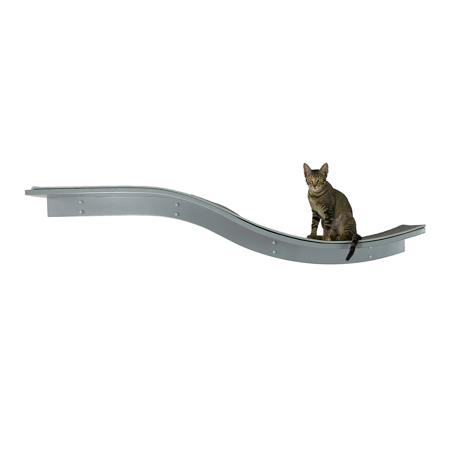 The Refined Feline Lotus Branch Cat Shelf in Smoke