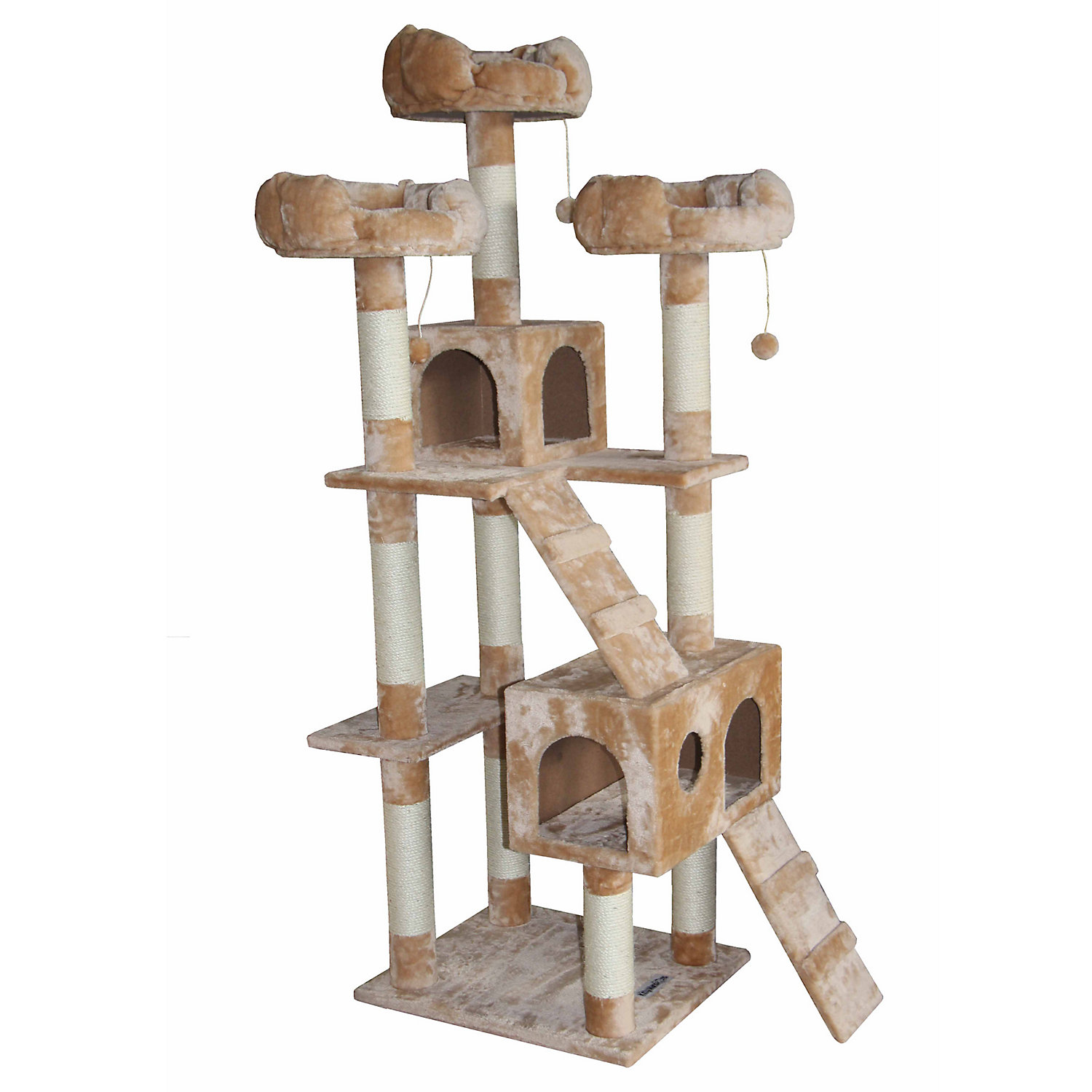 Kitty Mansions Bel Air Beige Cat Tree