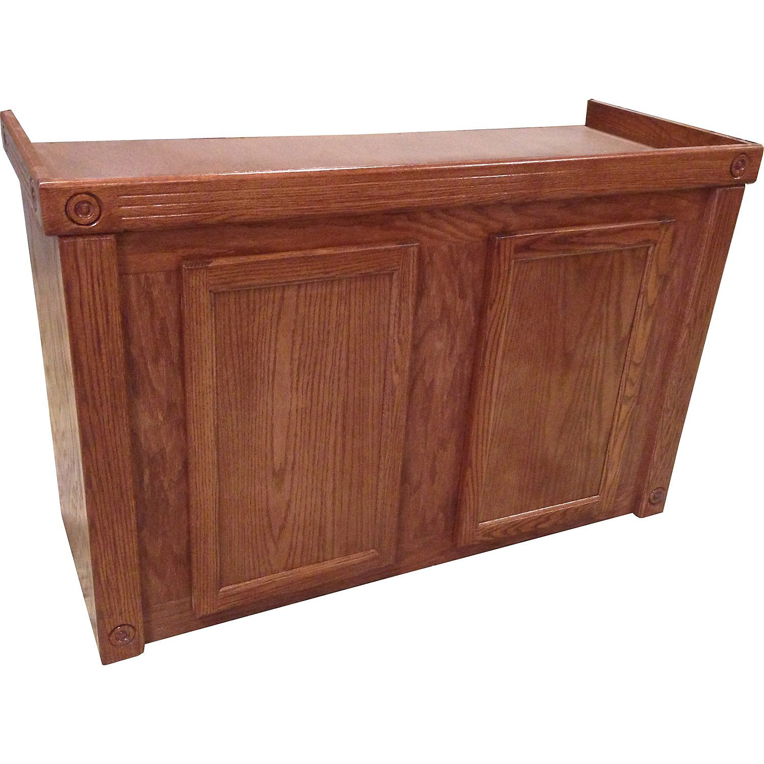 RJ Enterprises 48x18 Cherry Oak Empire Cabinet  for 75 90 and 110 Gallon Glass Aquariums 48.75 IN Brown