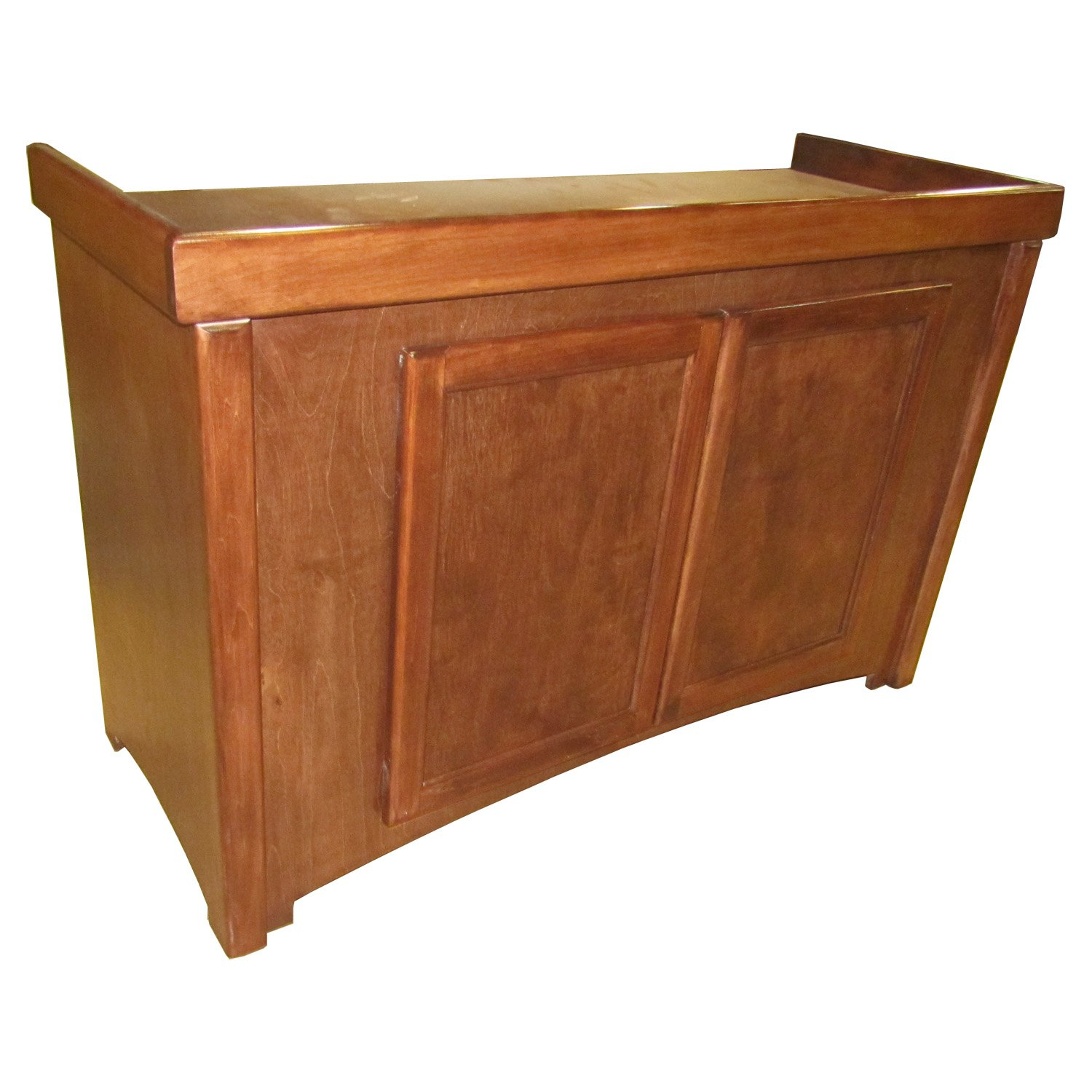 RJ Enterprises 48x18 Cherry Birch Calypso Cabinet  for 75 90 and 110 Gallon Glass Aquariums 48.75 IN Brown