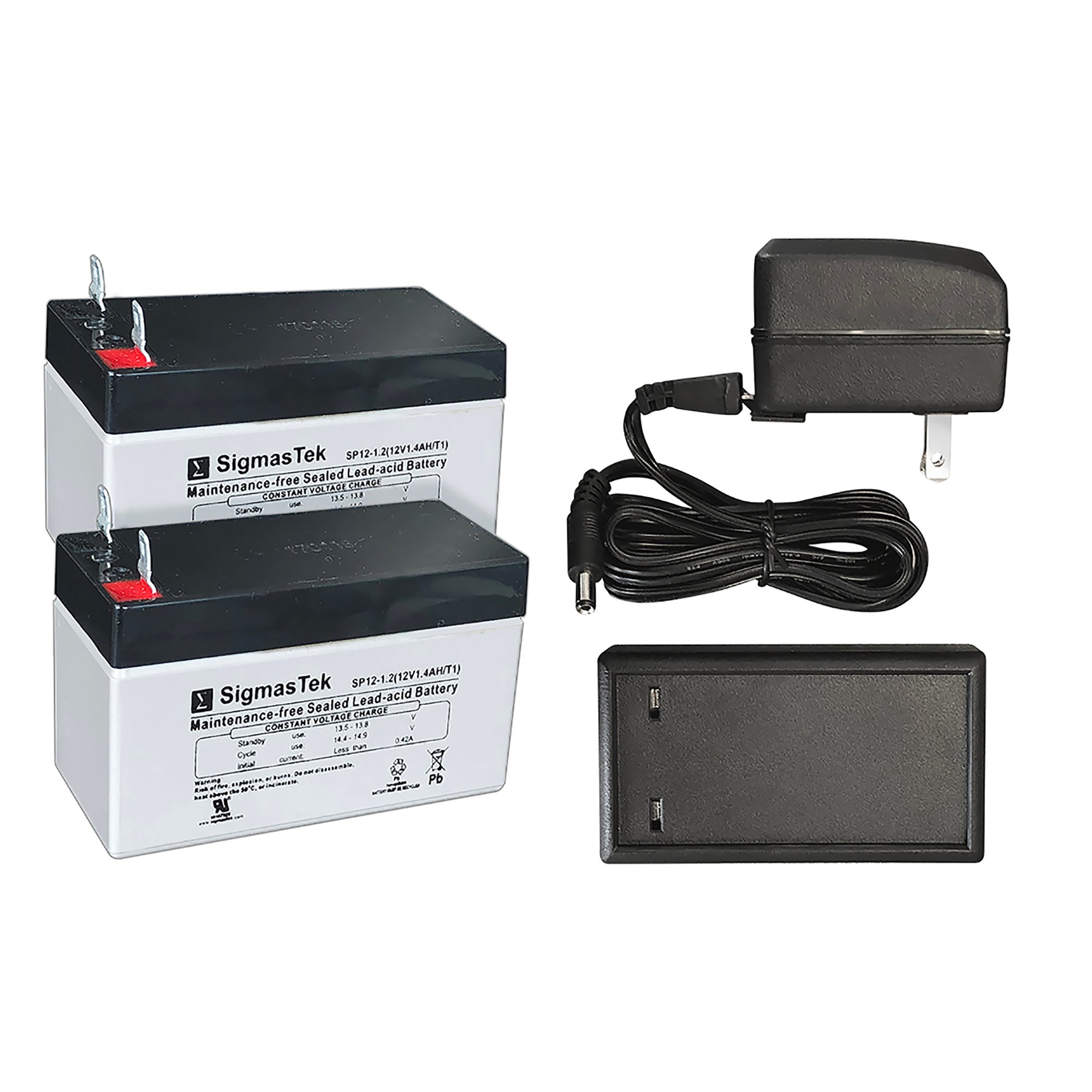 High Tech Pet 2 Battery Kit with Charger for Power Pet Door Operation 1.2 LBS