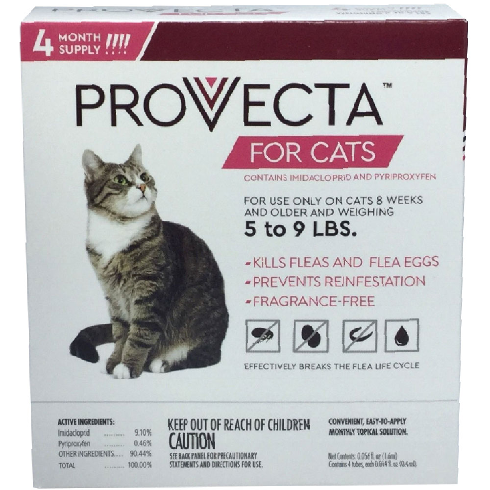 4 MONTH Provecta Advanced for Cats (5-9 lbs)