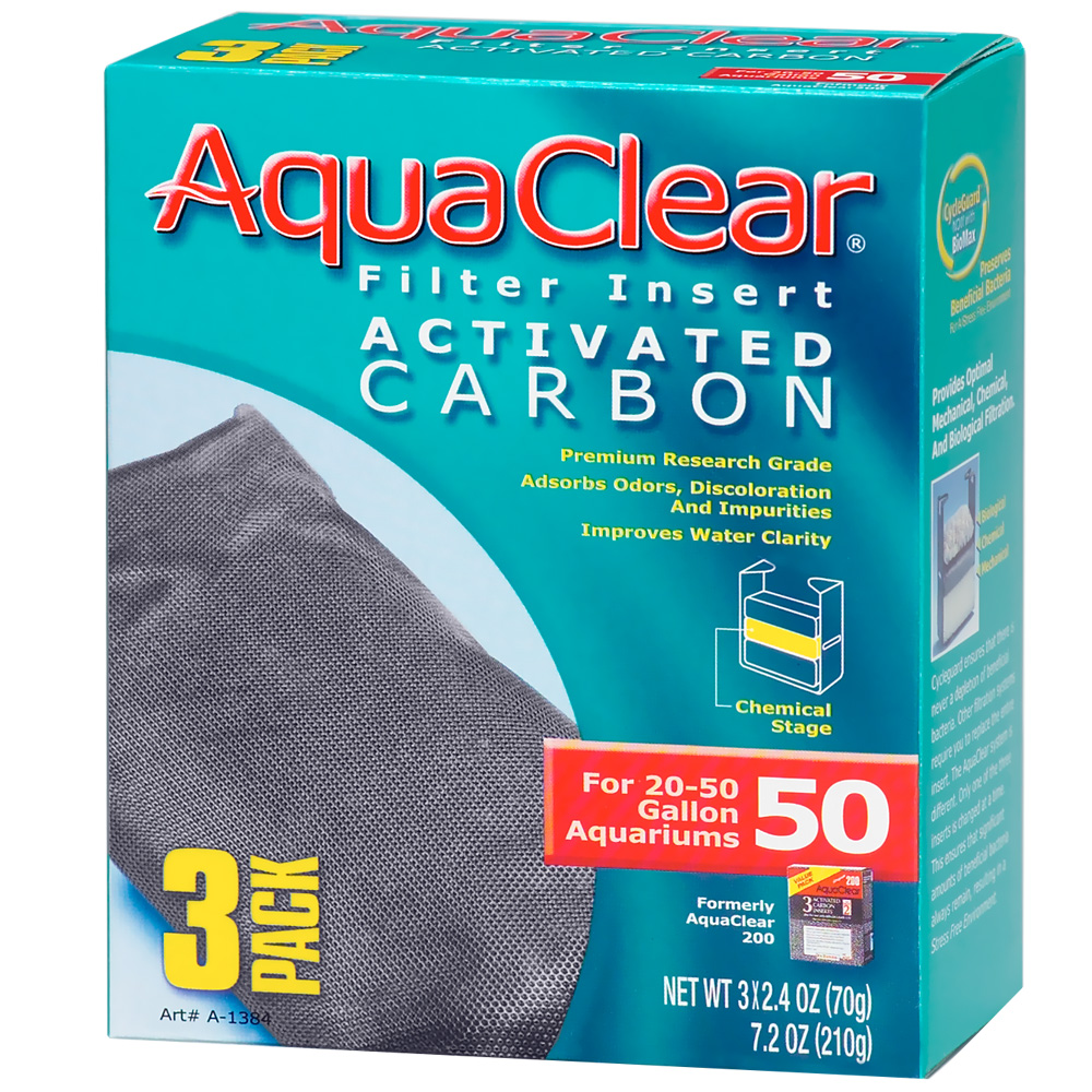 AquaClear 50 Filter Insert Activated Carbon (3 pack)