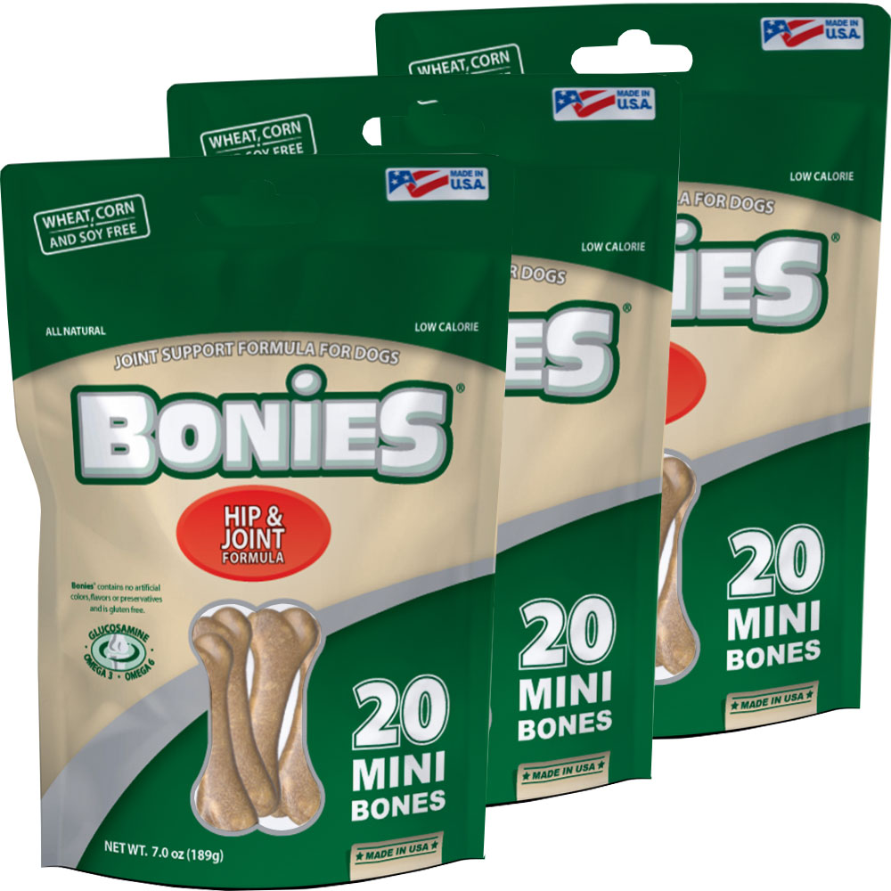 "BONIES"" Hip & Joint Health Multi-Pack MINI 3-PACK (60 Bones)"