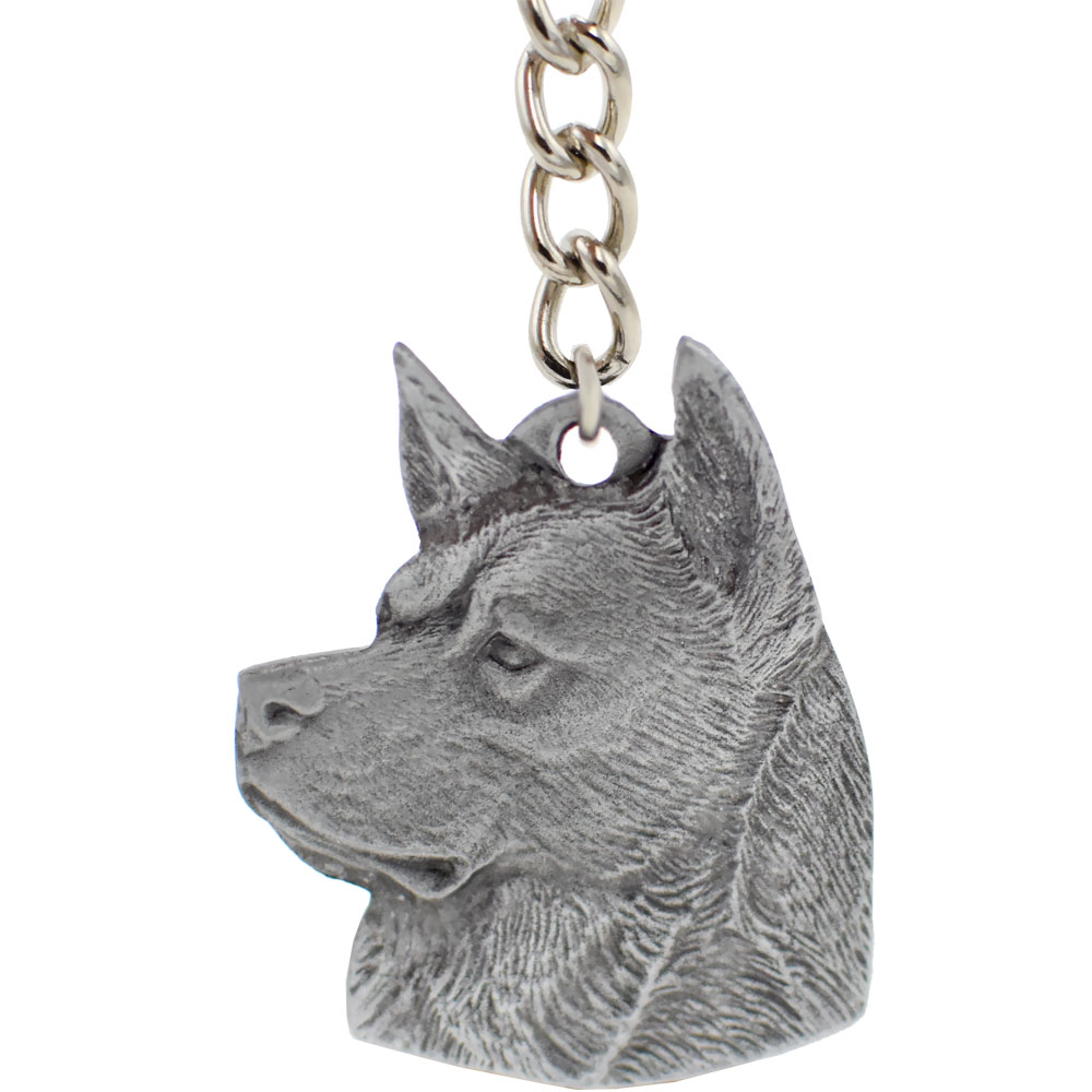 "Dog Breed Keychain USA Pewter - Akita (2.5"")"