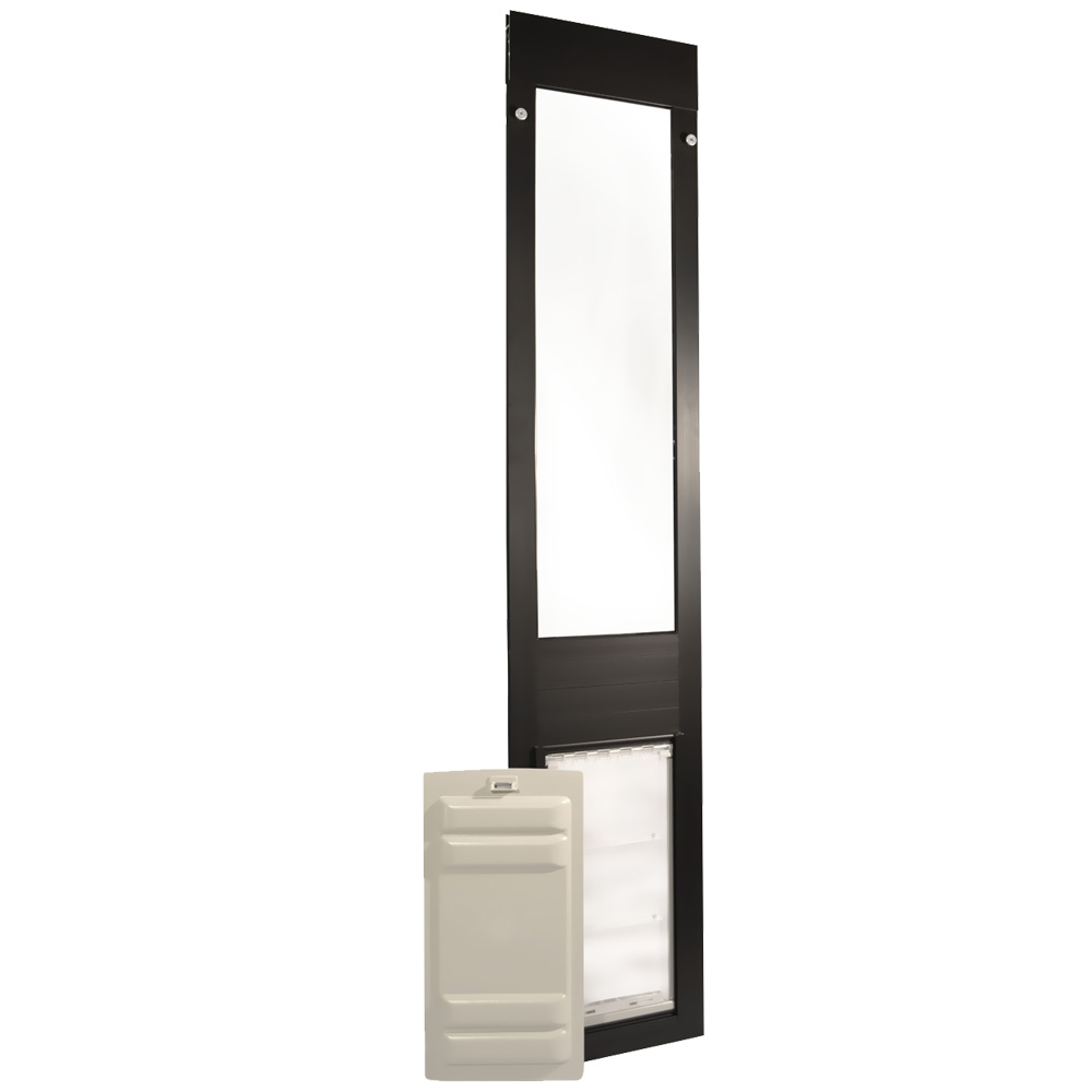 "Endura Flap Pet Door - Thermo Panel 3e Bronze Frame - Large (74.75""-77.75"")"