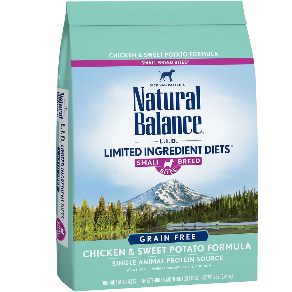 Natural Balance L.I.D. Grain Free - Chicken & Sweet Potato Formula Small Breed Bites Dry Dog Food (12 lb)