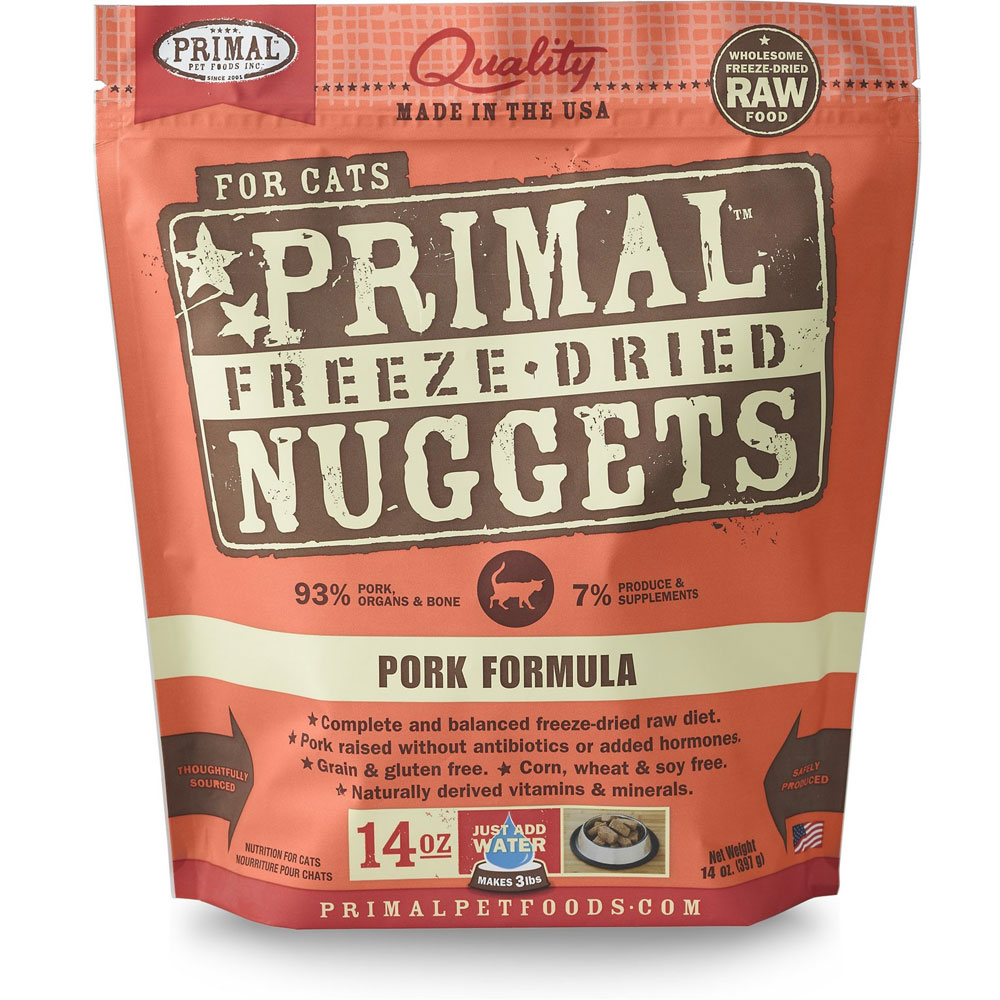 Primal Freeze Dried Nuggets for Cats - Pork Formula (14 oz)