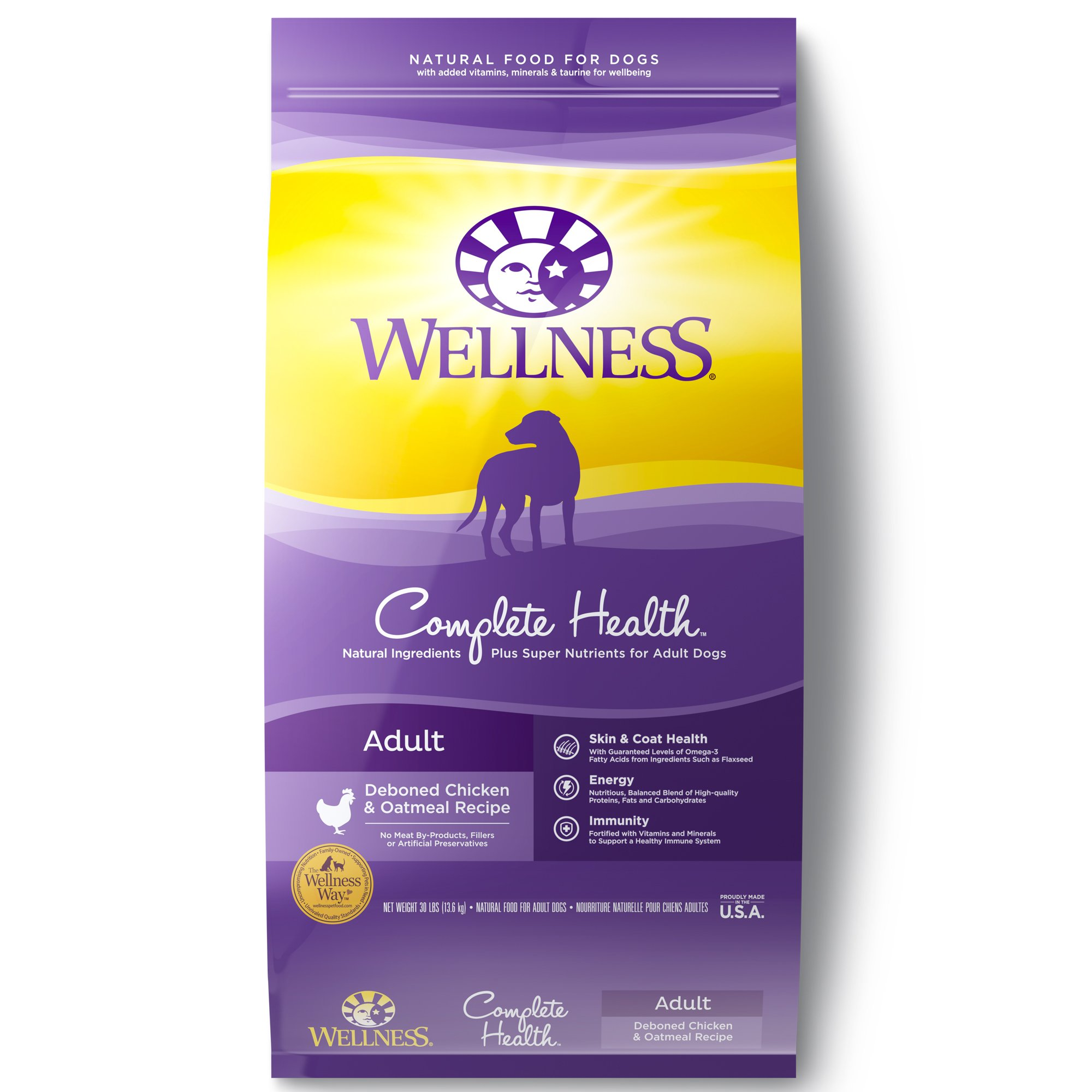Wellness Complete Health Natural Chicken Recipe Dry Dog Food 30 lbs.