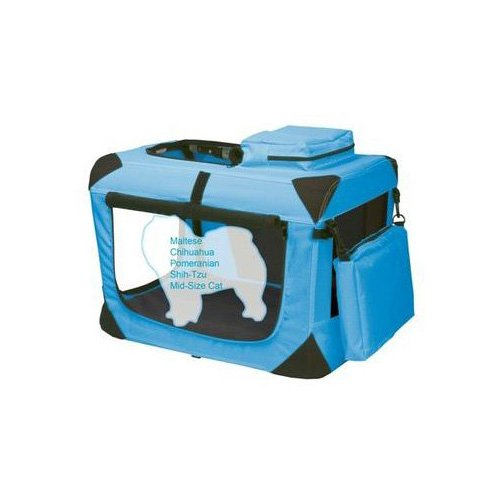 Pet Gear Generation II Blue Deluxe Portable Soft Dog Crate 21 L X 14.5 W X 14.5 H XSmall Blue  Black