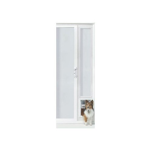 Perfect Pet VIP 94 Vinyl Patio Door in White 16IN x 2.5IN x 94.5IN Medium