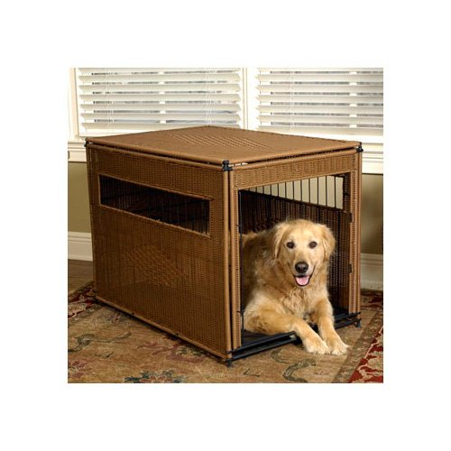 Mr. Herzhers Pet Residence in Brown 36 L X 24 W X 27 H Large