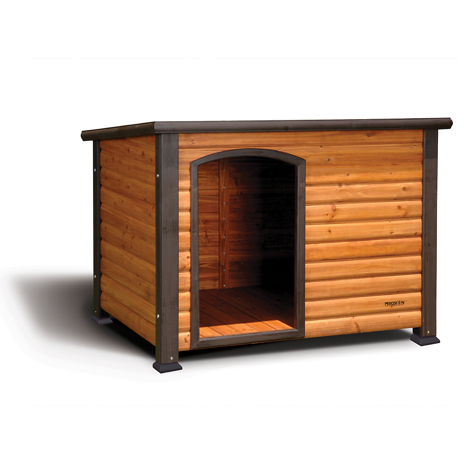 Precision Pet Extreme Outback Log Cabin Dog House Small Black