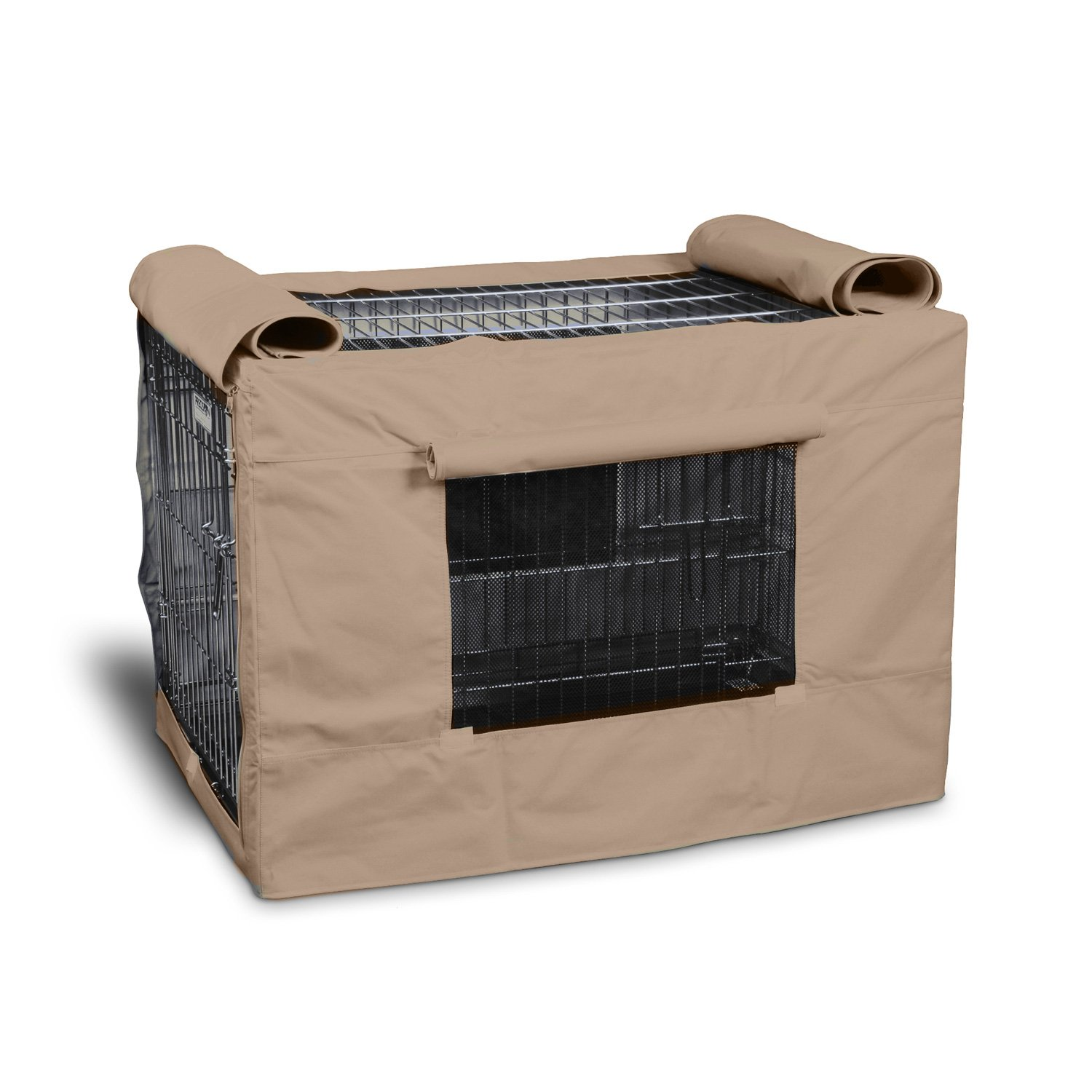 Precision Pet IndoorOutdoor Tan Crate Cover 3000 Medium
