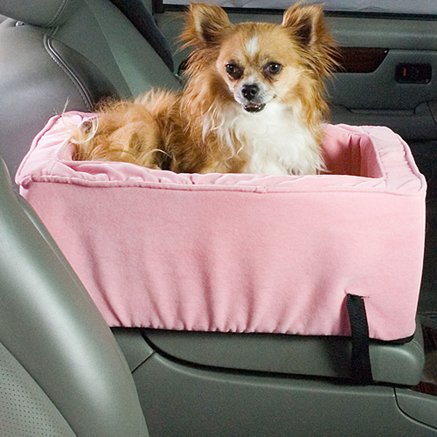 Snoozer Pink Luxury Console Lookout Dog Car Seat Small